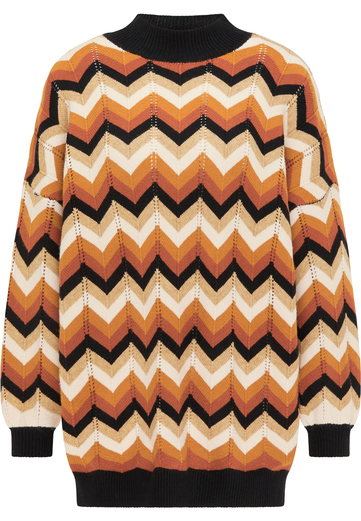 myMo NOW Megztinis ruda / gelsvai pilka spalva / balta / juoda / aukso geltonumo spalva