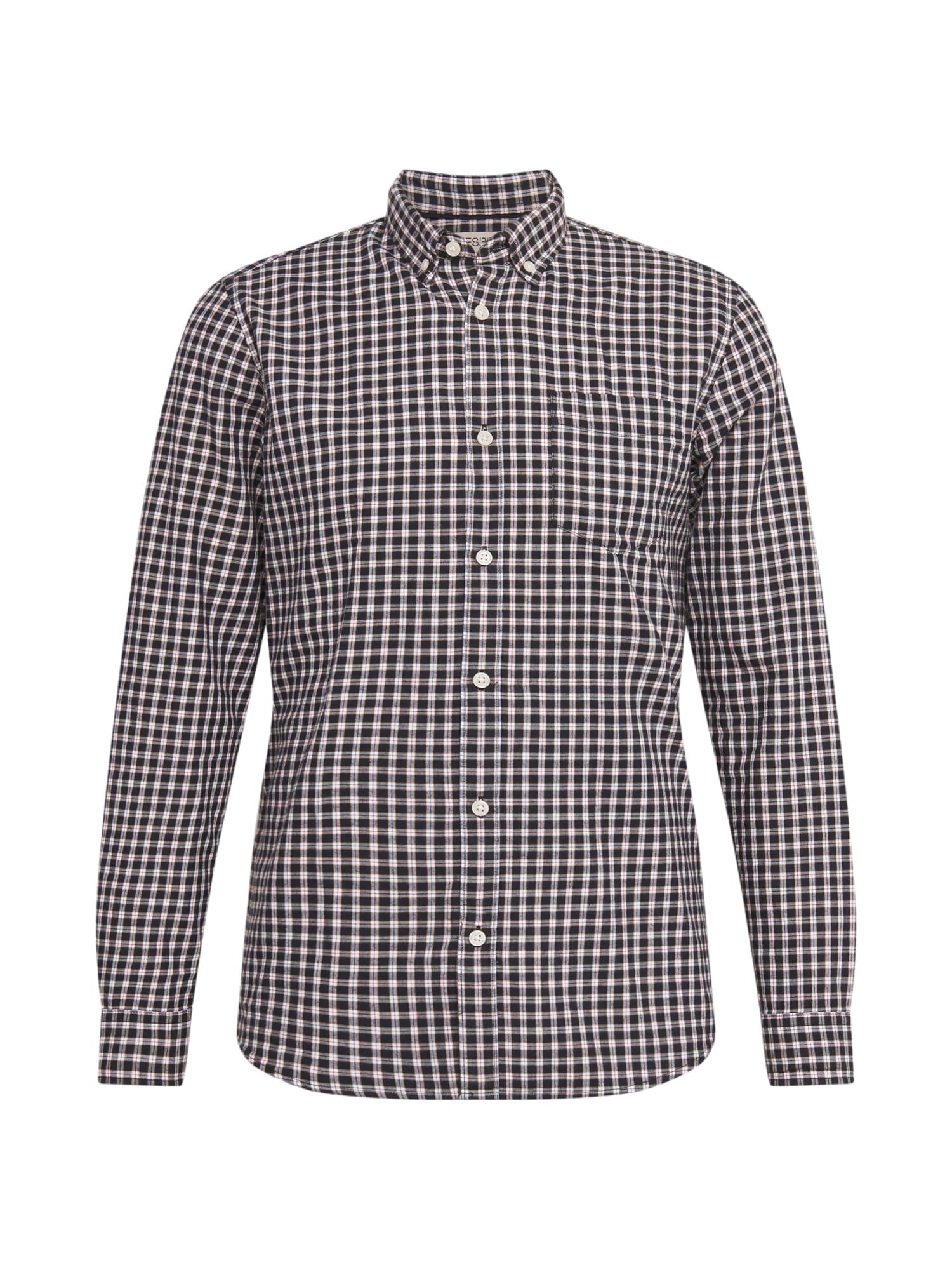 ESPRIT Marškiniai tamsiai mėlyna / balta / raudona