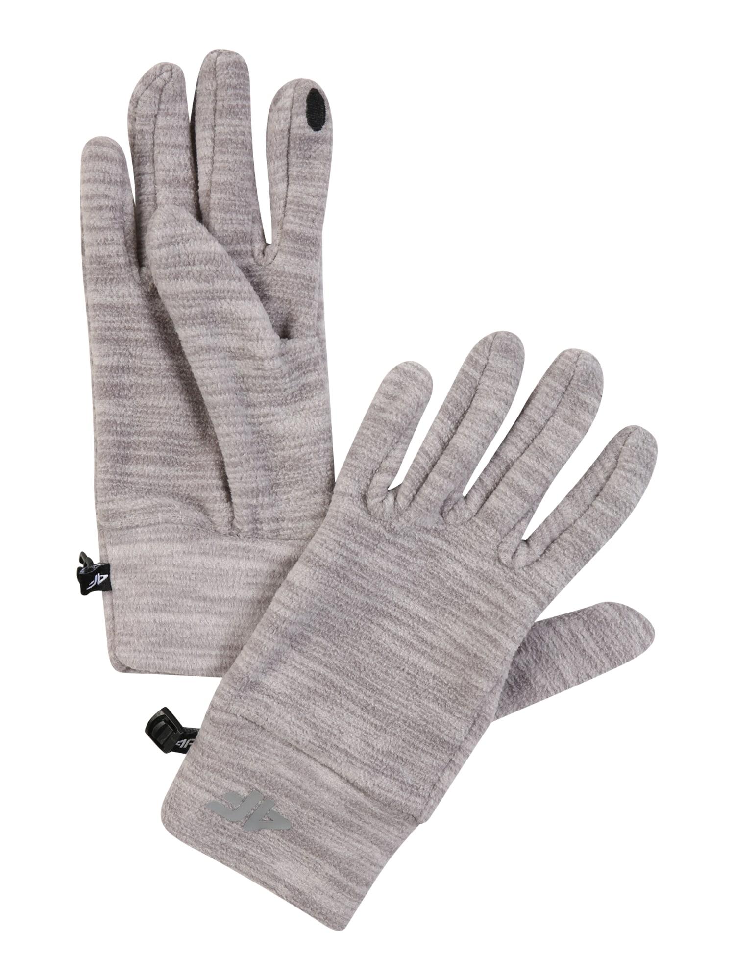 4F Sportinės pirštinės margai pilka