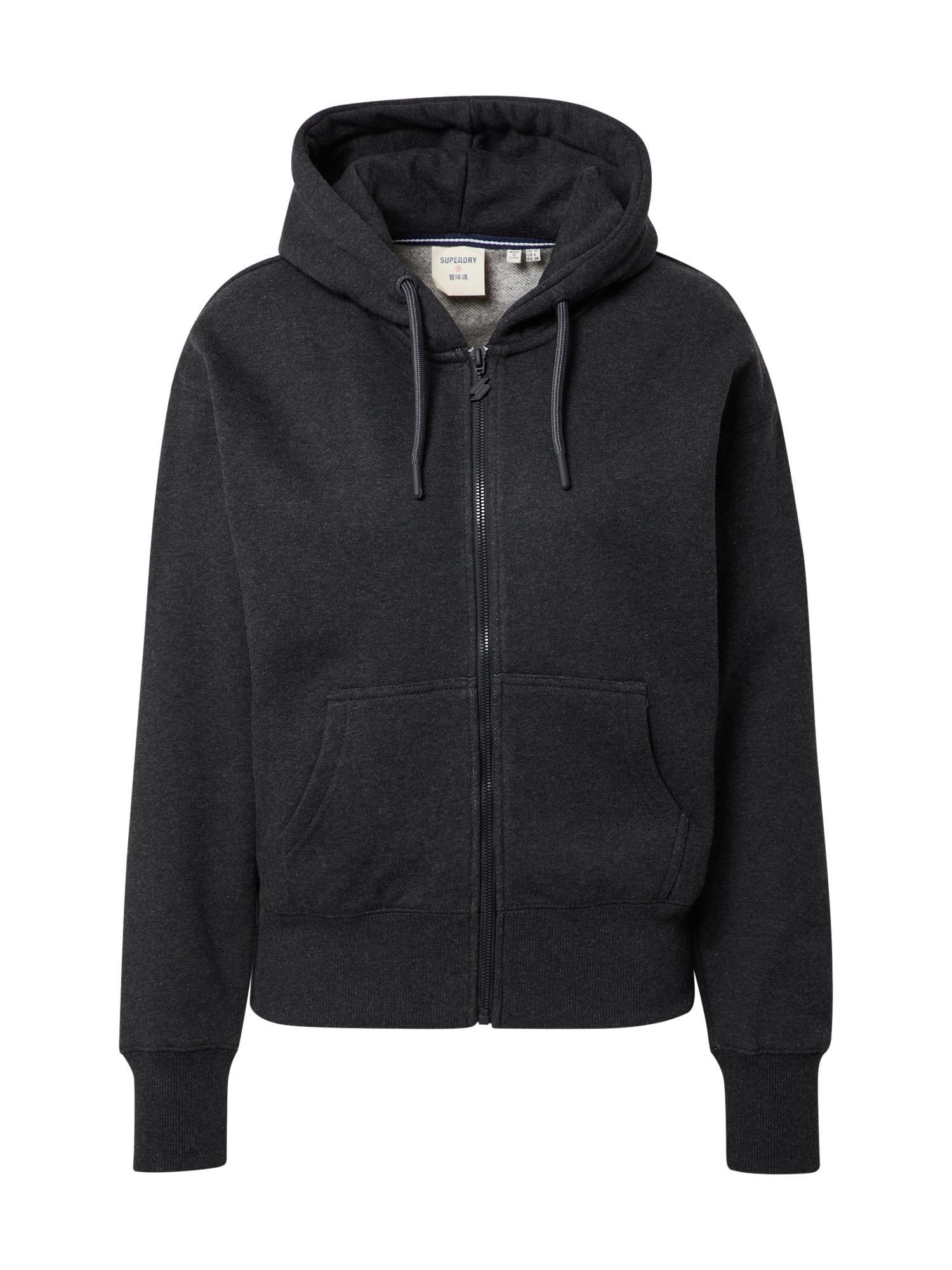 Superdry Džemperis bazalto pilka / balta / mėlyna / raudona
