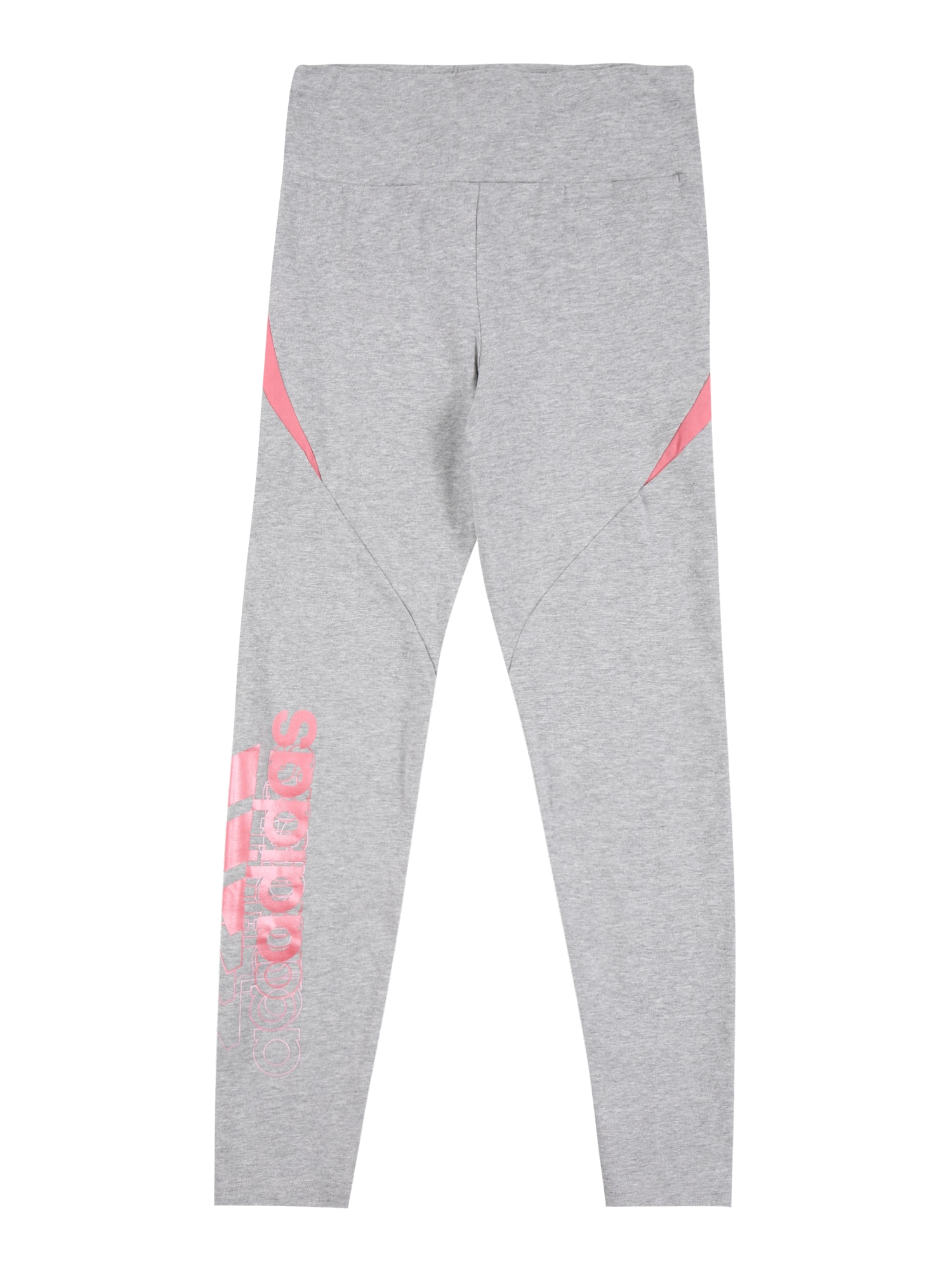 ADIDAS PERFORMANCE Sportinės kelnės 'Bold' margai pilka / omarų spalva / šviesiai rožinė