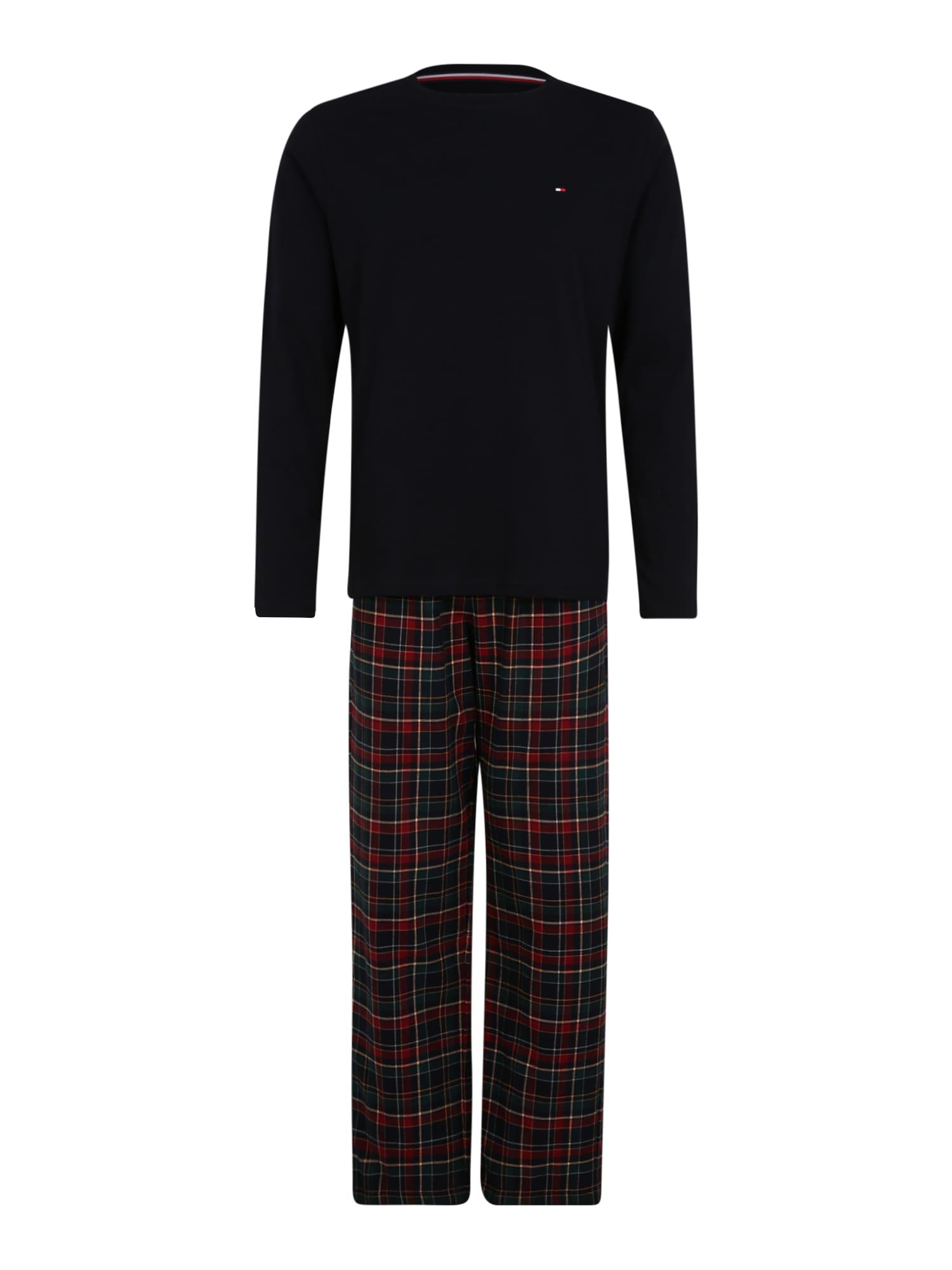 Tommy Hilfiger Underwear Ilga pižama raudona / nakties mėlyna