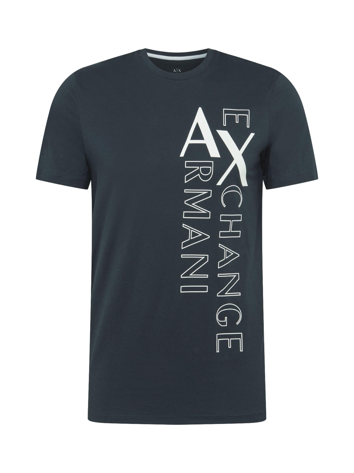ARMANI EXCHANGE Tričko  bílá / námořnická modř