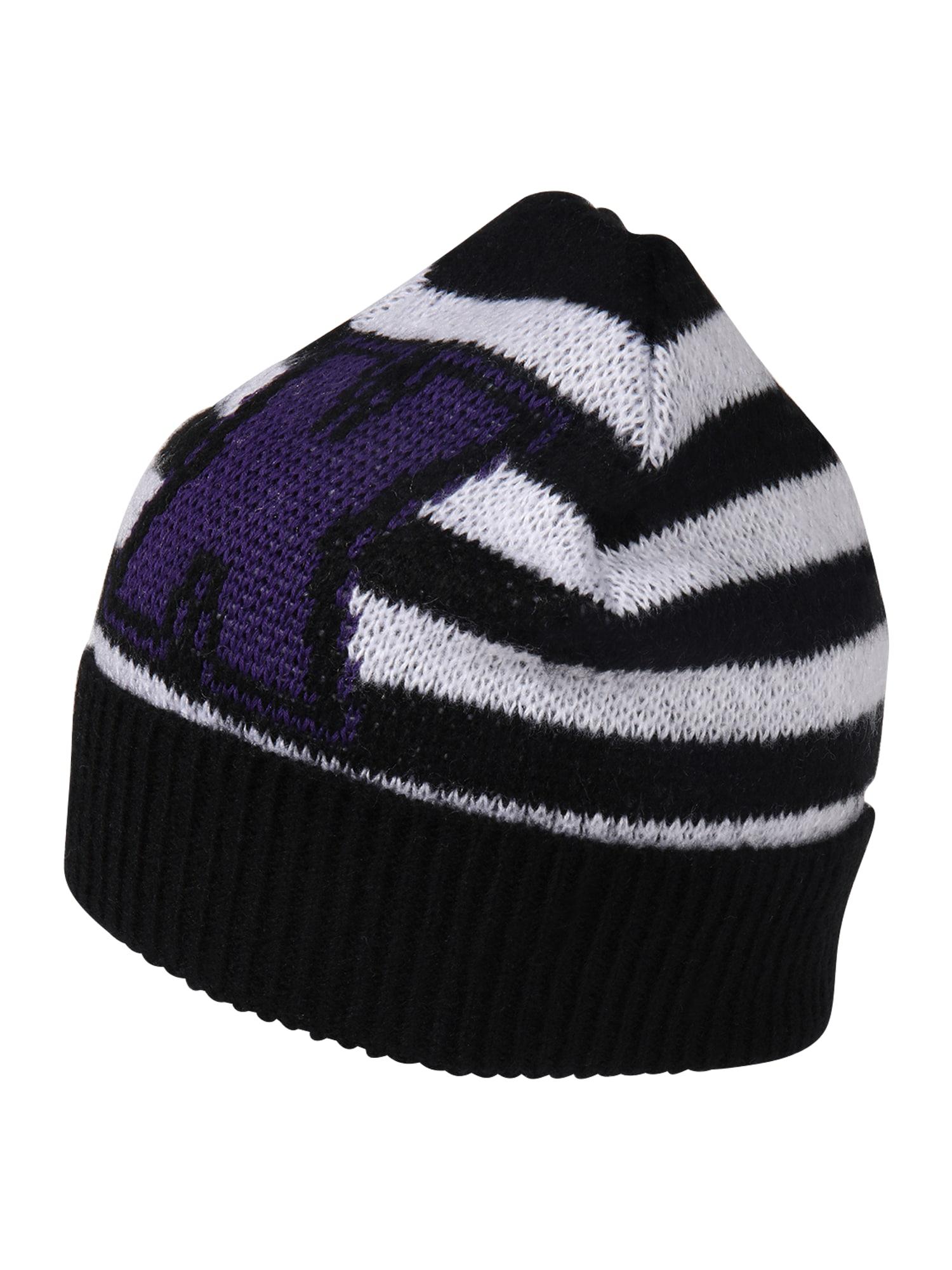 ARMANI EXCHANGE Megzta kepurė natūrali balta / juoda