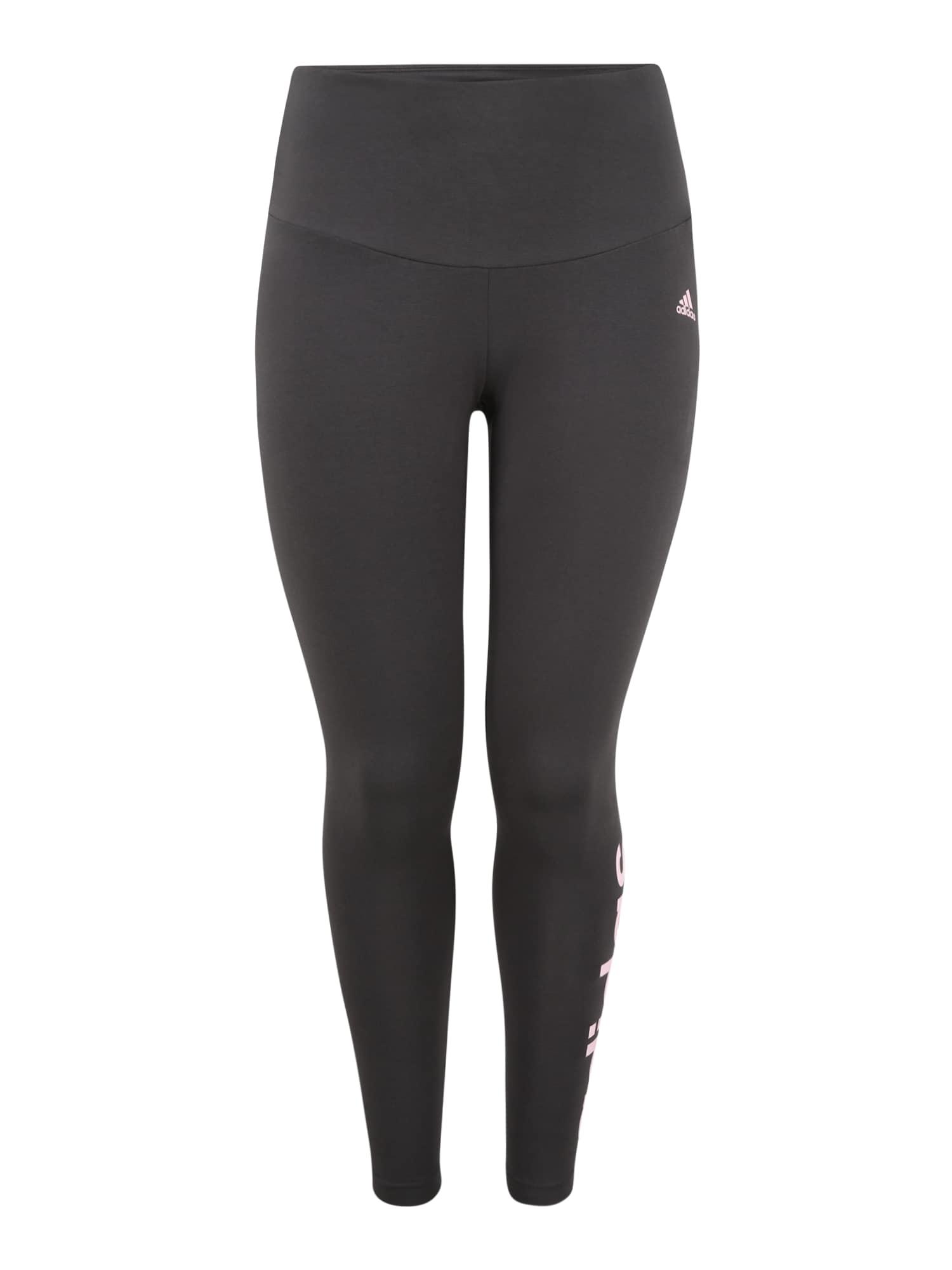 ADIDAS PERFORMANCE Sportovní kalhoty  tmavě šedá / pastelově růžová