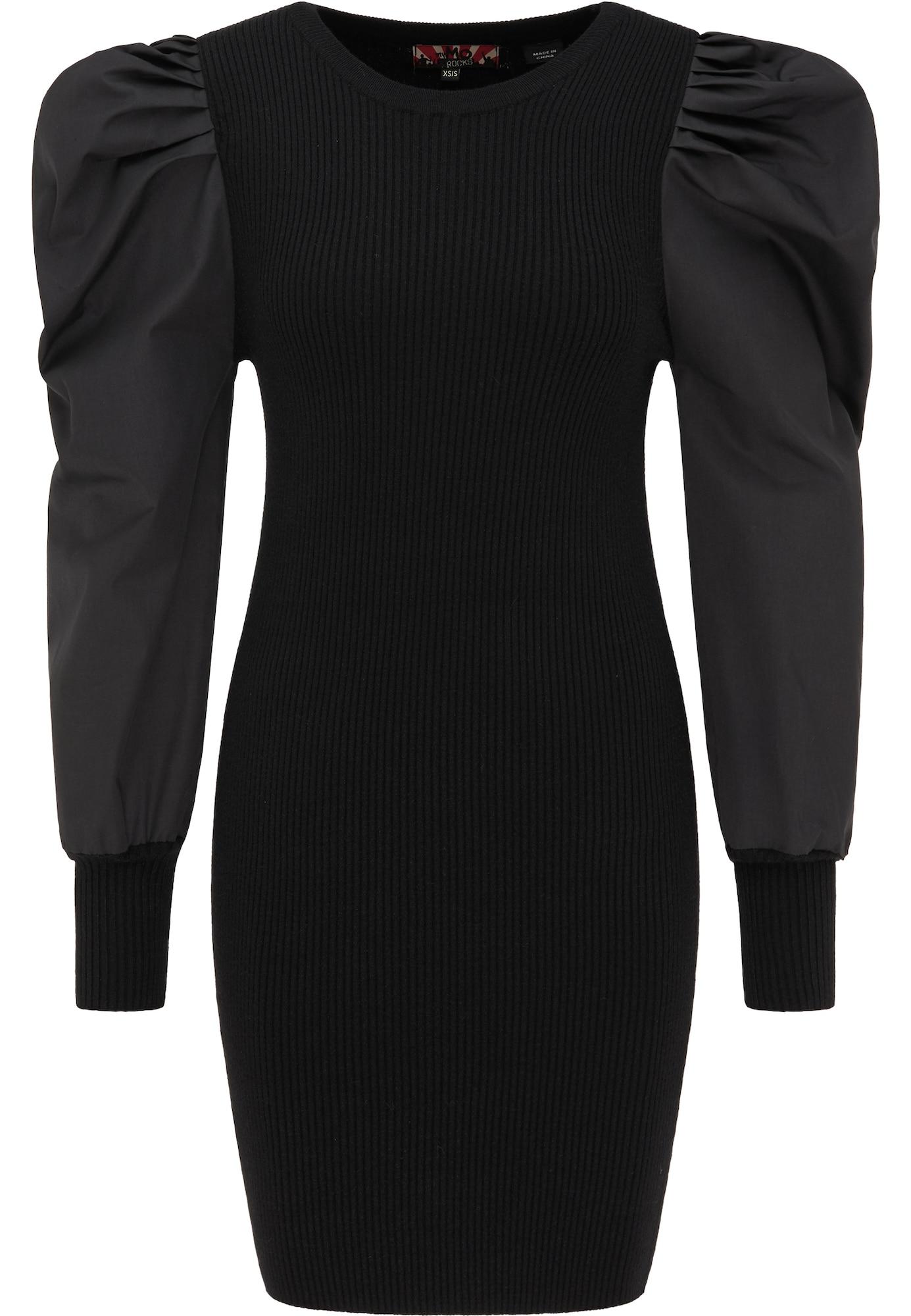 myMo ROCKS Megzta suknelė juoda
