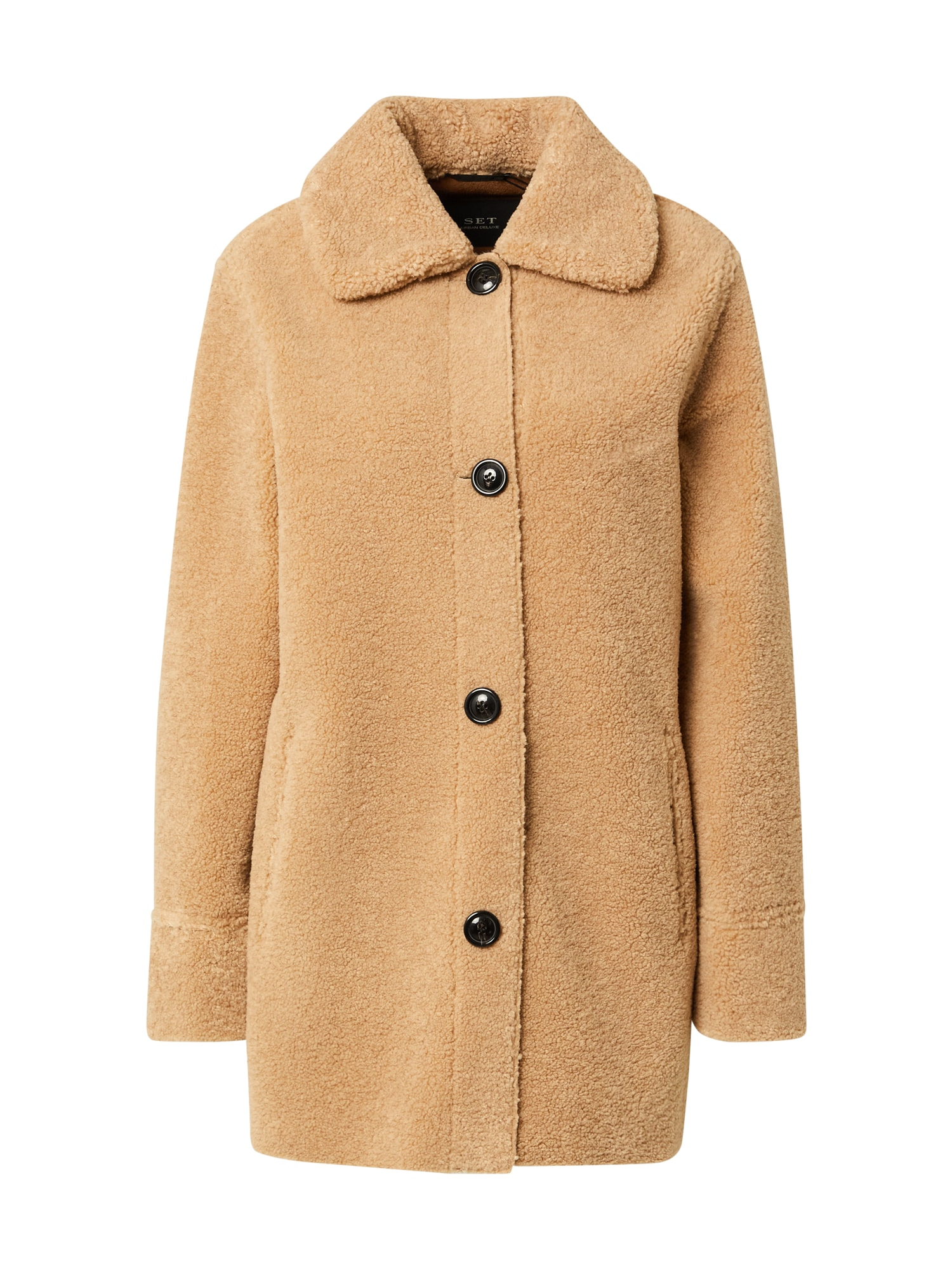 SET Demisezoninis paltas šviesiai ruda