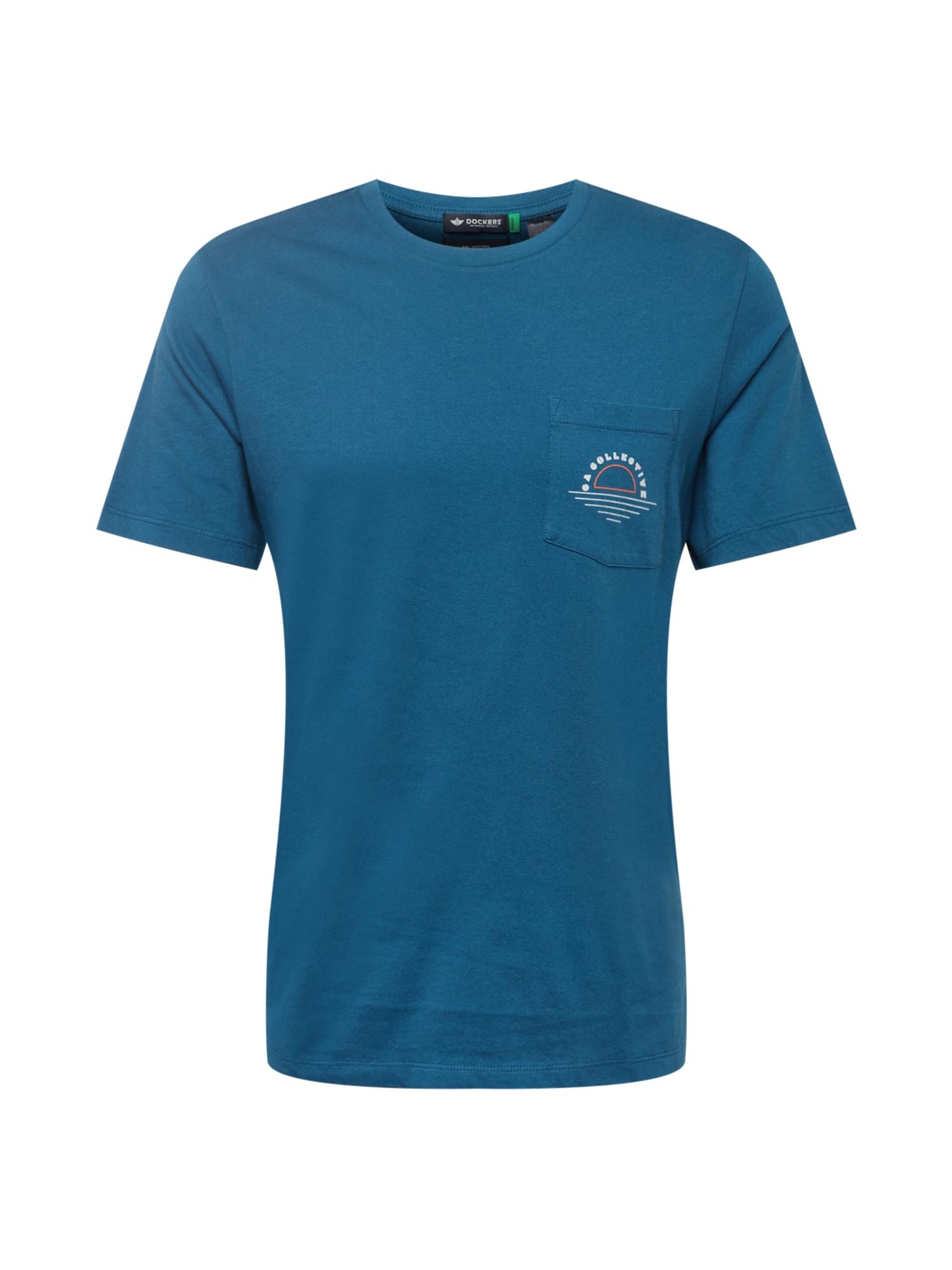 Dockers Marškinėliai mėlyna / balta / oranžinė