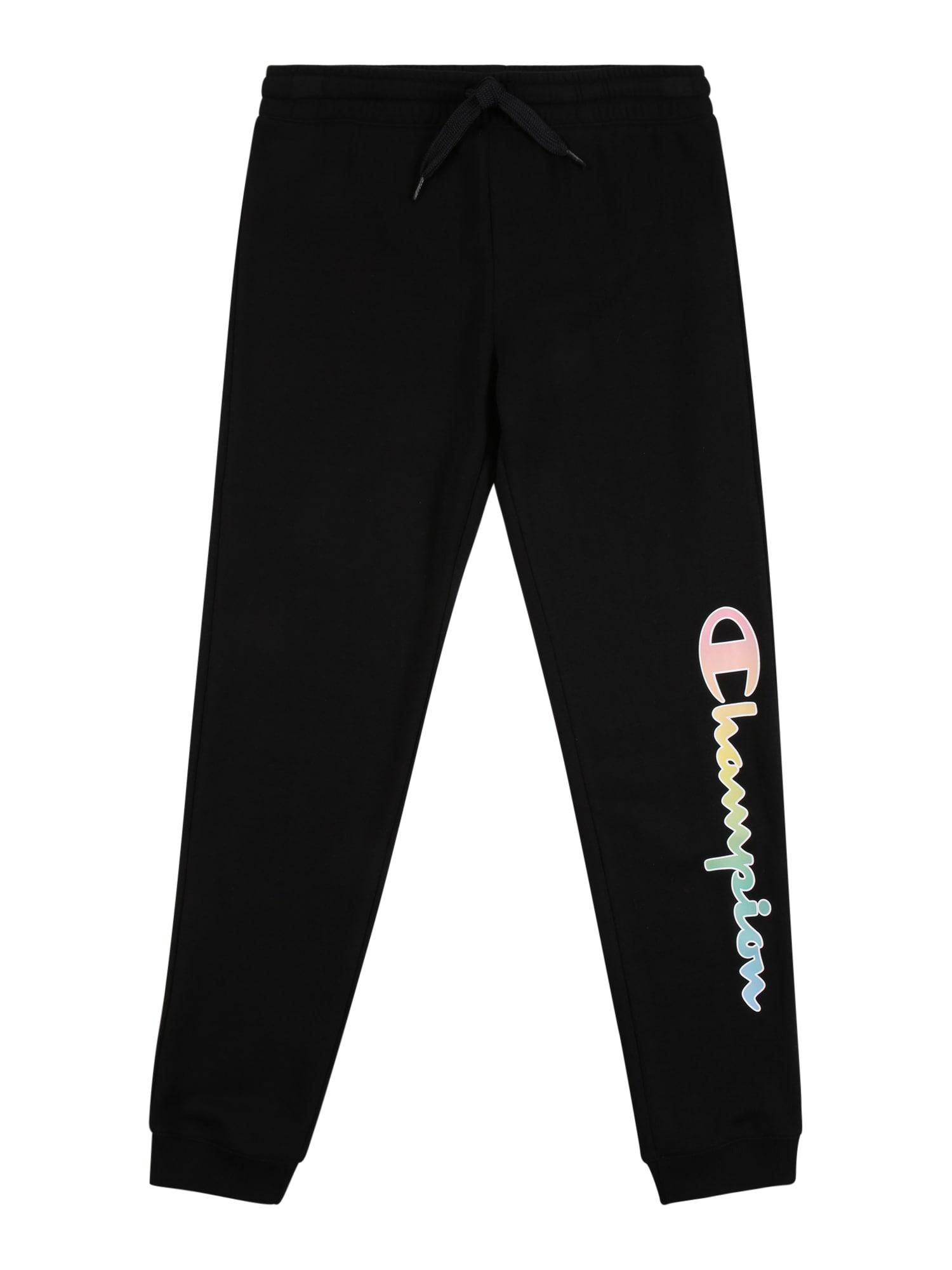 Champion Authentic Athletic Apparel Kelnės juoda / šviesiai rožinė / šviesiai geltona / šviesiai mėlyna