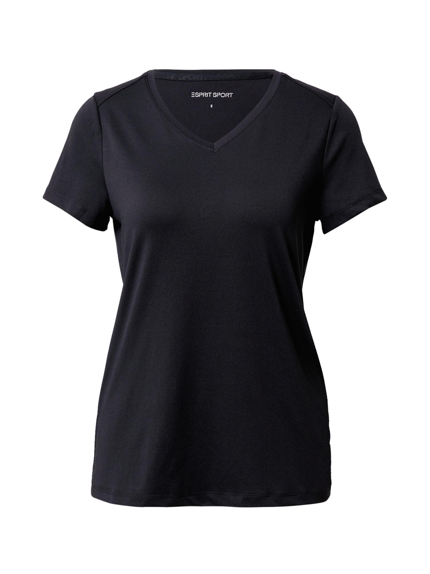 ESPRIT SPORT Sportiniai marškinėliai juoda