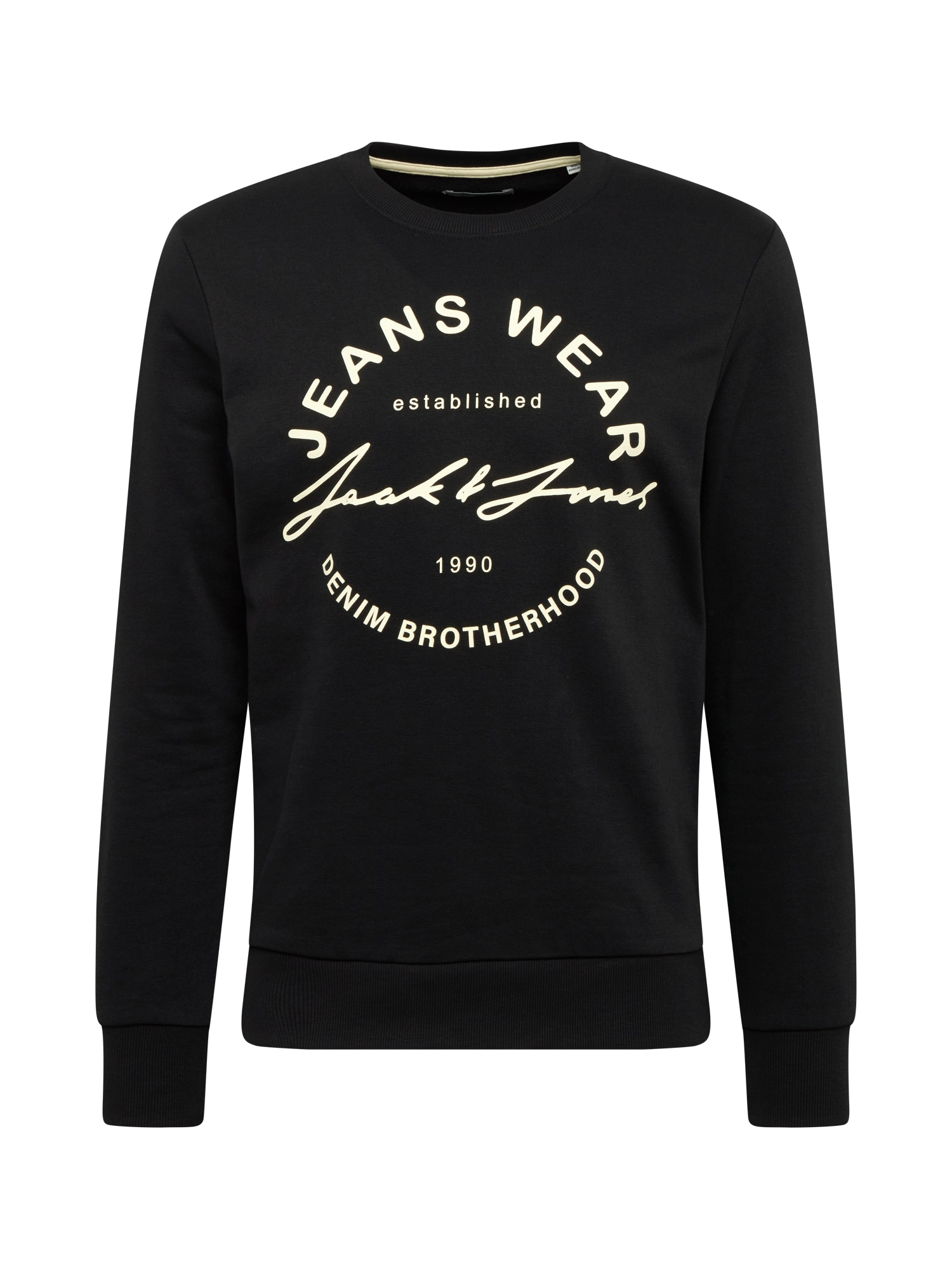 JACK & JONES Megztinis be užsegimo 'HERO' juoda / balta