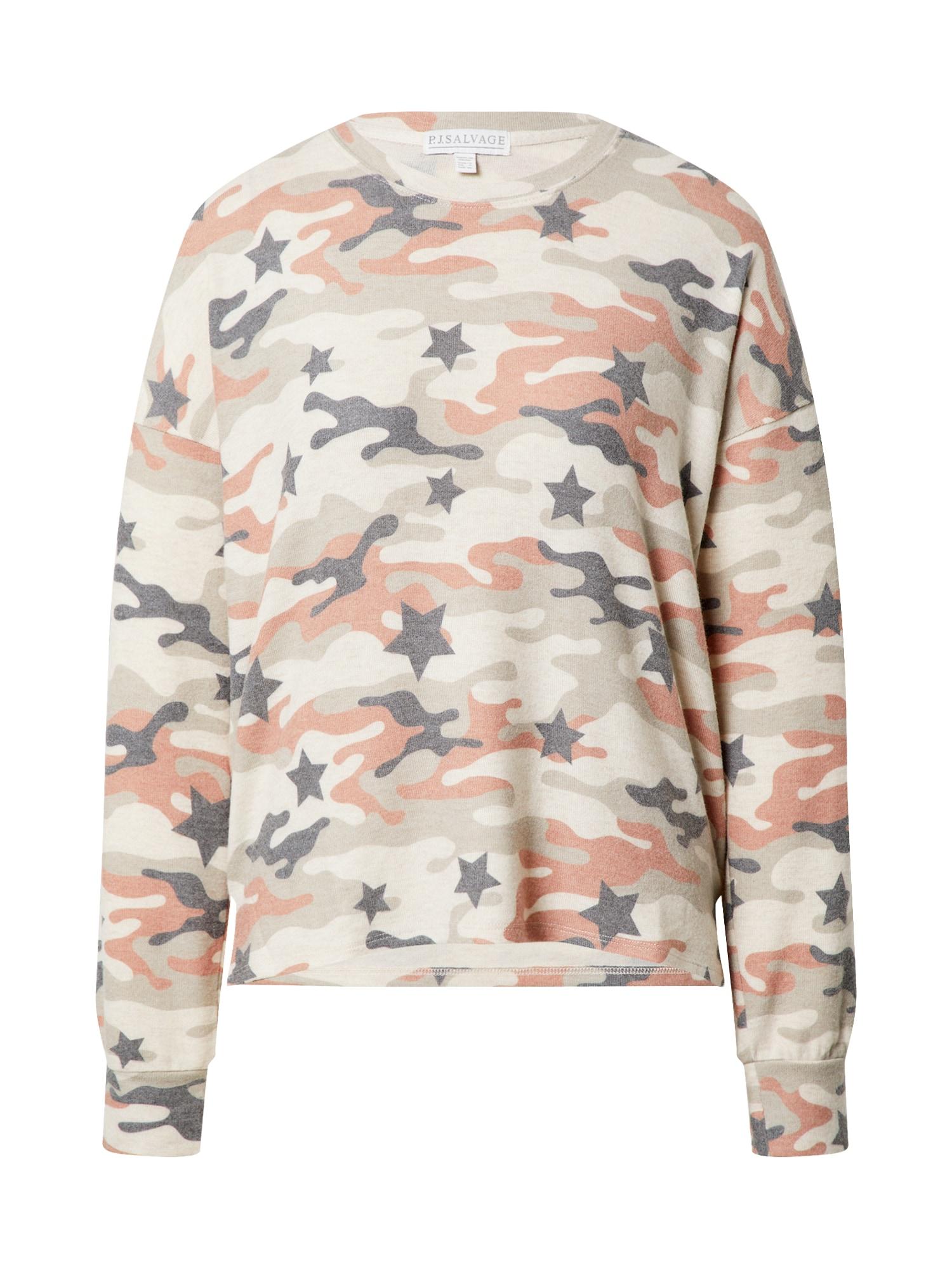 PJ Salvage Pižaminiai marškinėliai mišrios spalvos / smėlio