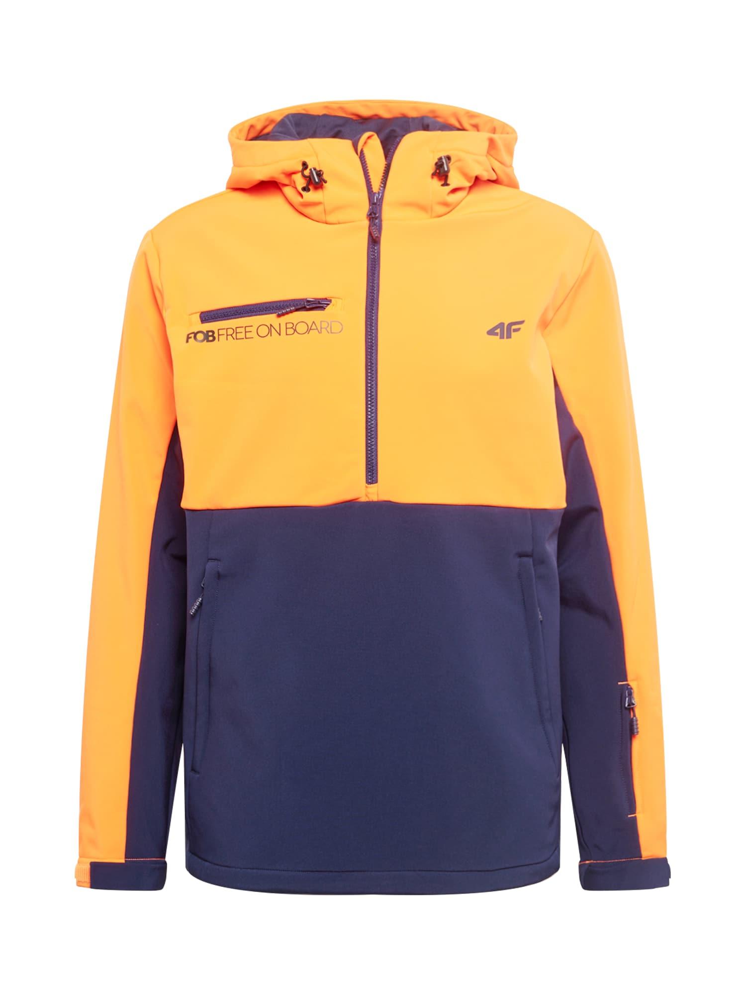 4F Laisvalaikio striukė tamsiai mėlyna / geltona