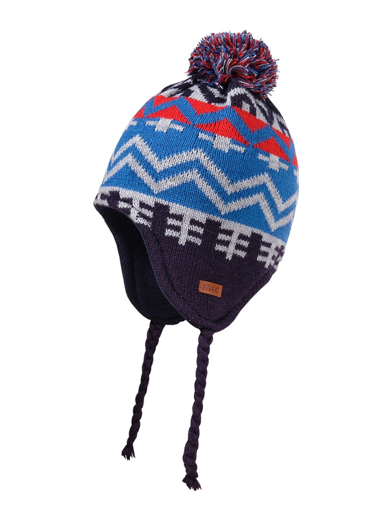MAXIMO Megzta kepurė mėlyna / raudona / balta
