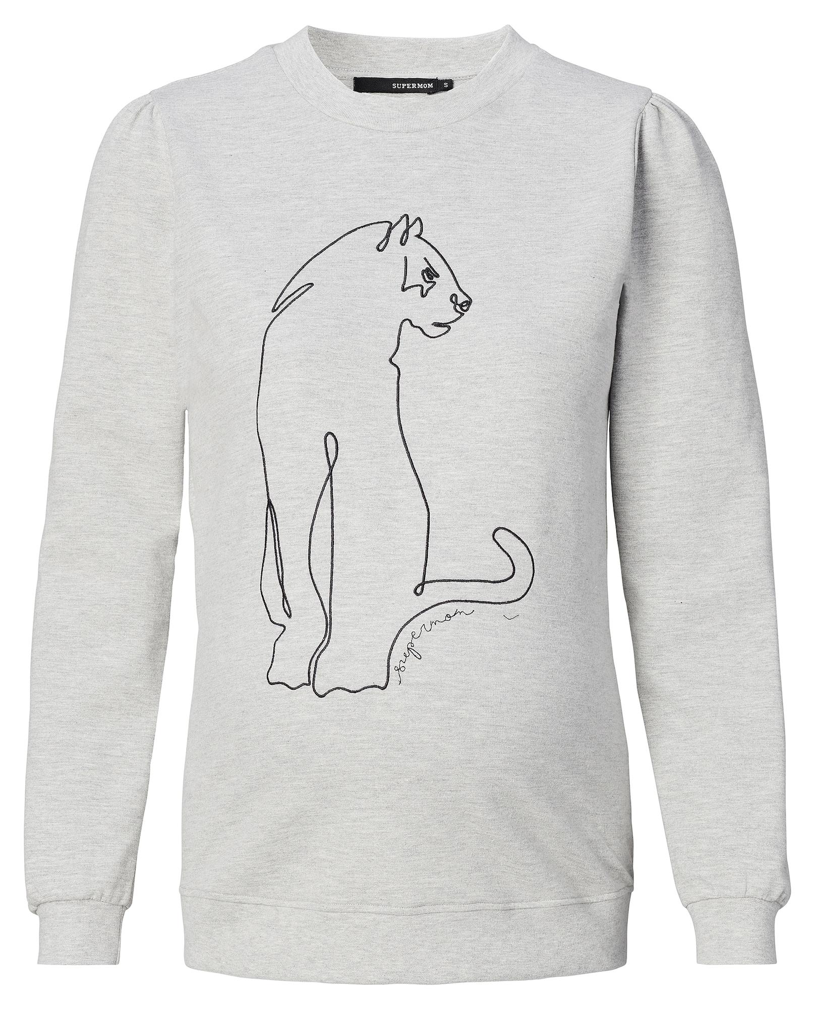 Supermom Mikina ' Leopard Grey '  šedá / černá