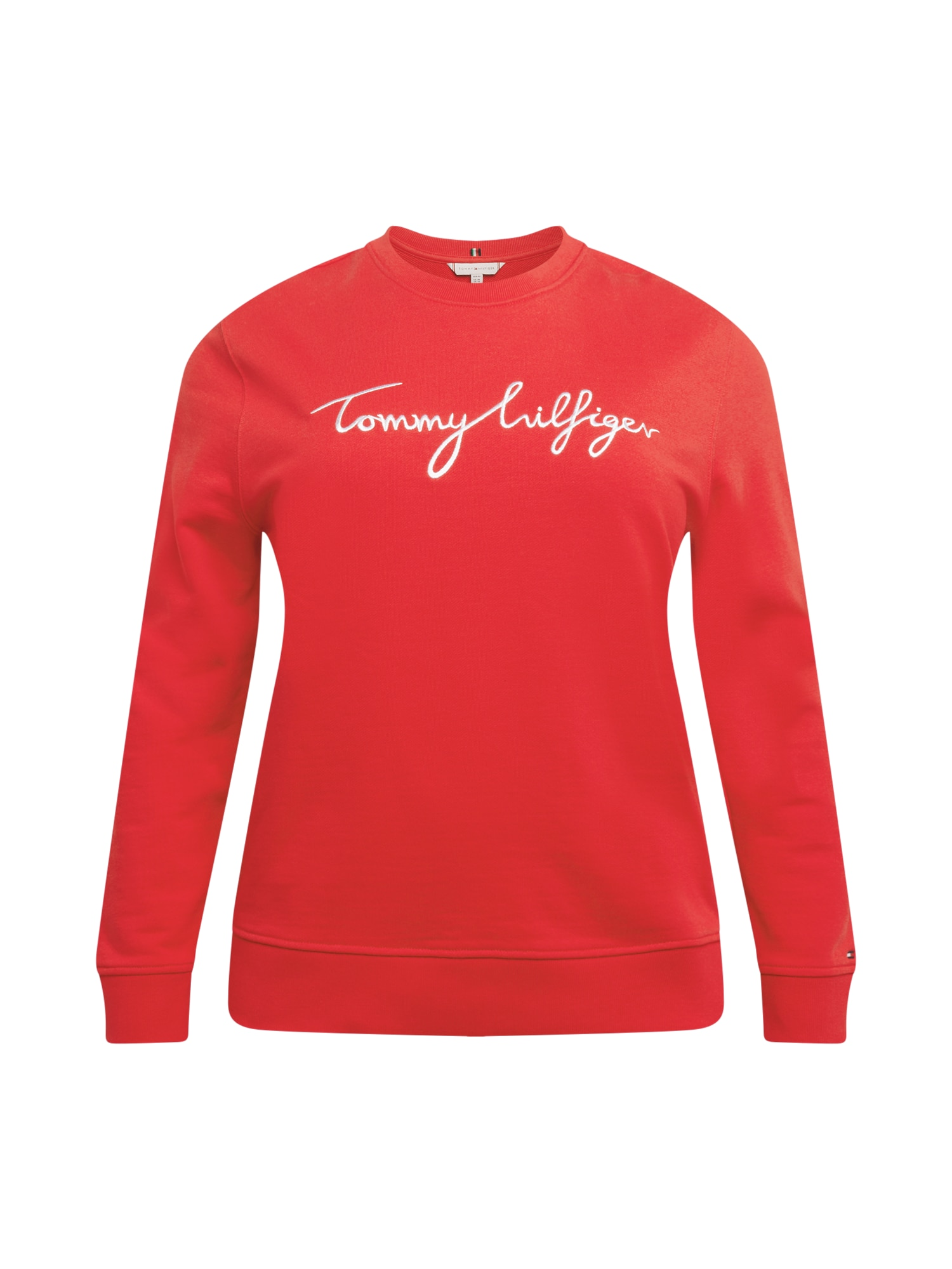 Tommy Hilfiger Curve Megztinis be užsegimo raudona / balta