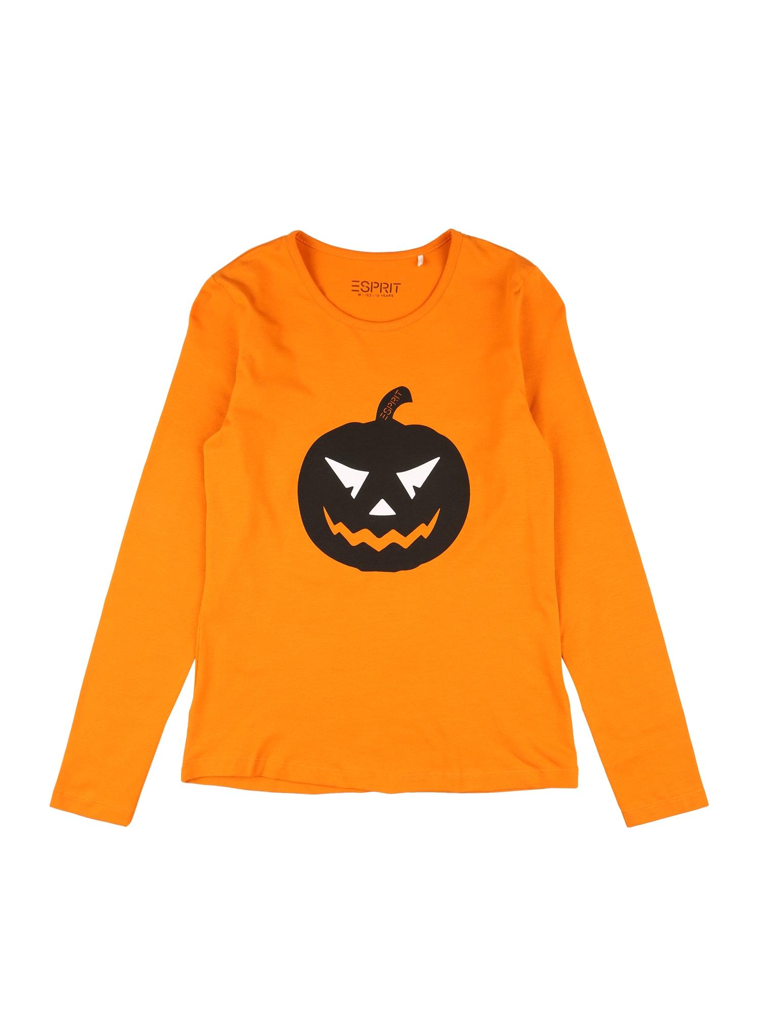 ESPRIT Marškinėliai oranžinė / juoda