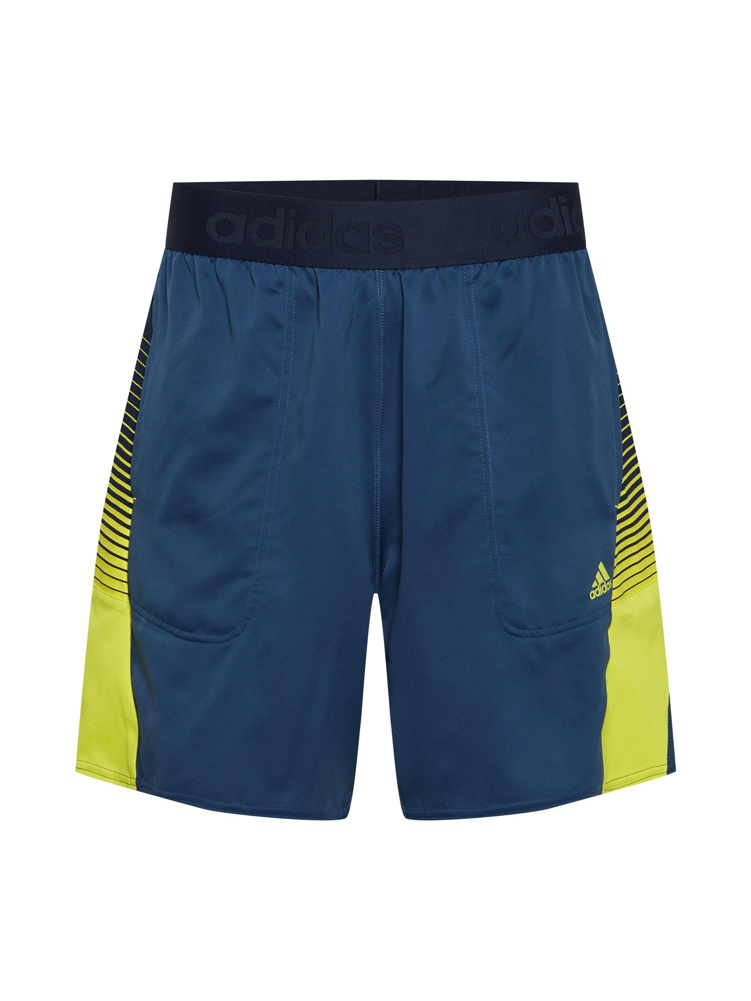 ADIDAS PERFORMANCE Sportinės kelnės tamsiai mėlyna / tamsiai mėlyna / geltona / balta