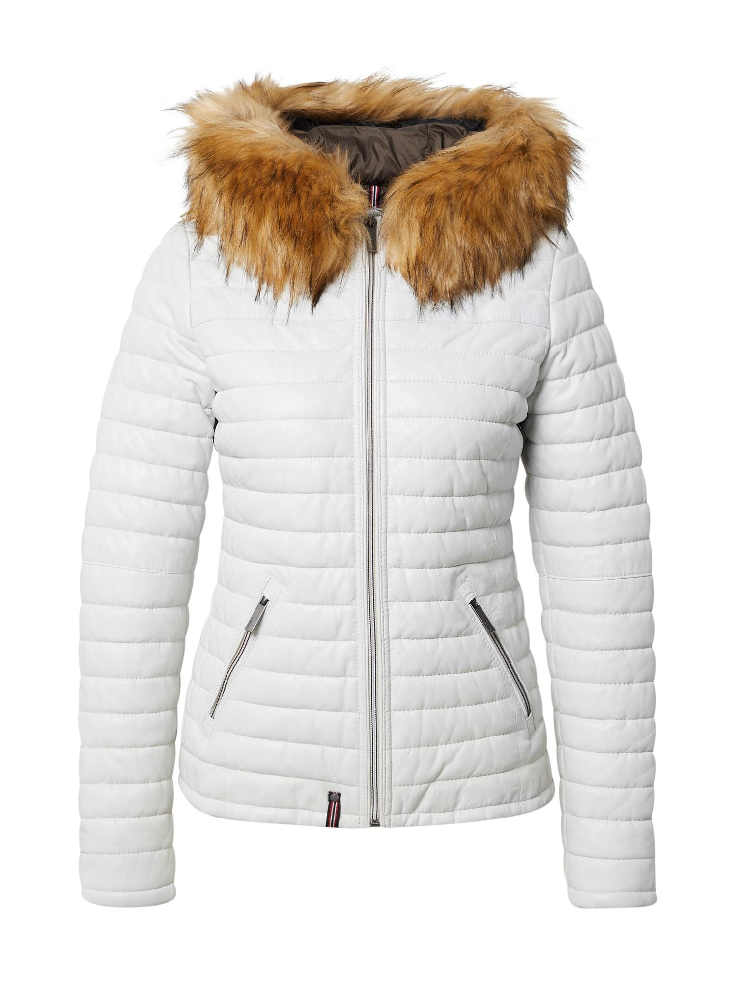 OAKWOOD Žieminė striukė balta / ruda (konjako)