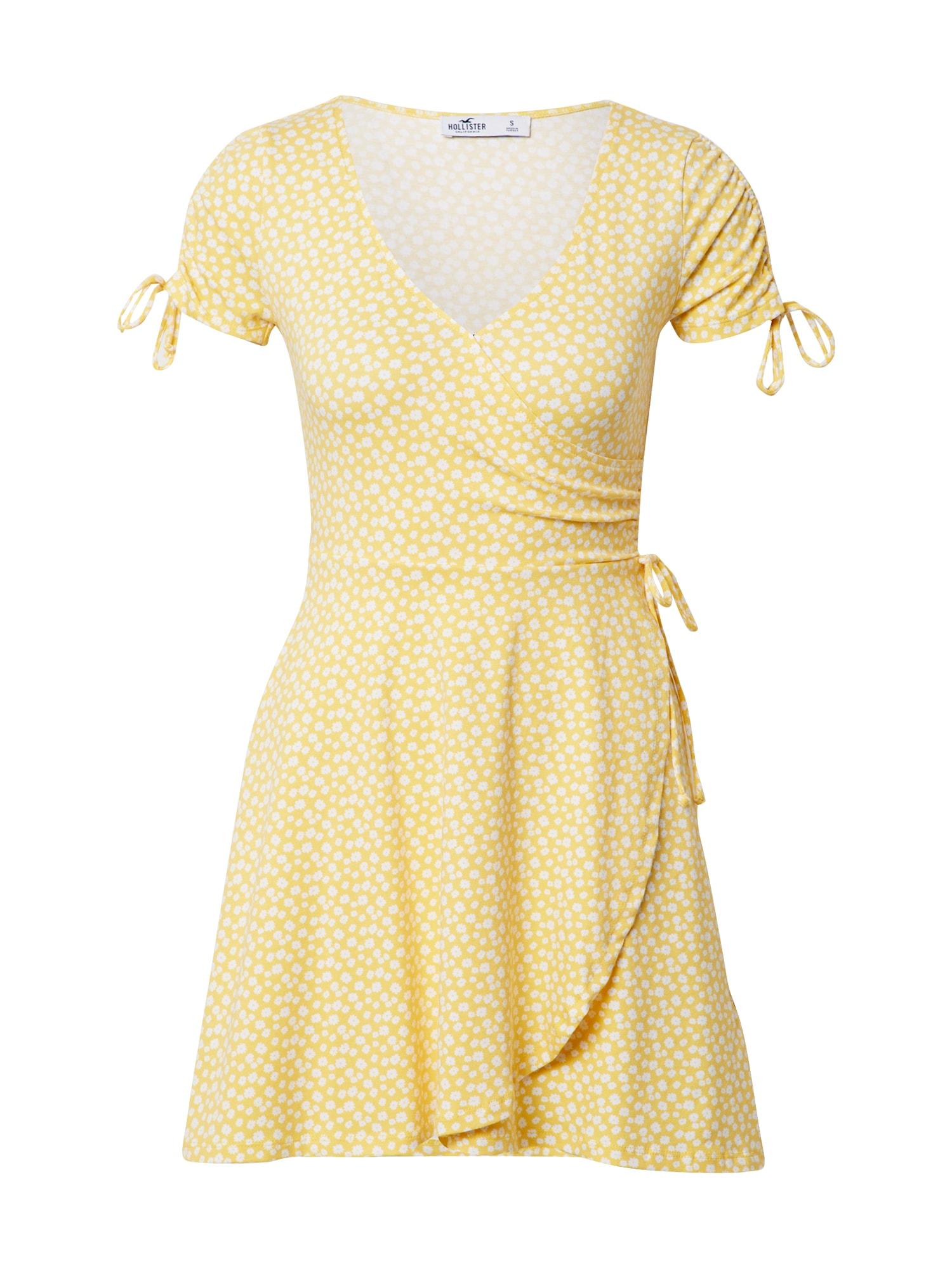 HOLLISTER Vasarinė suknelė geltona / balta
