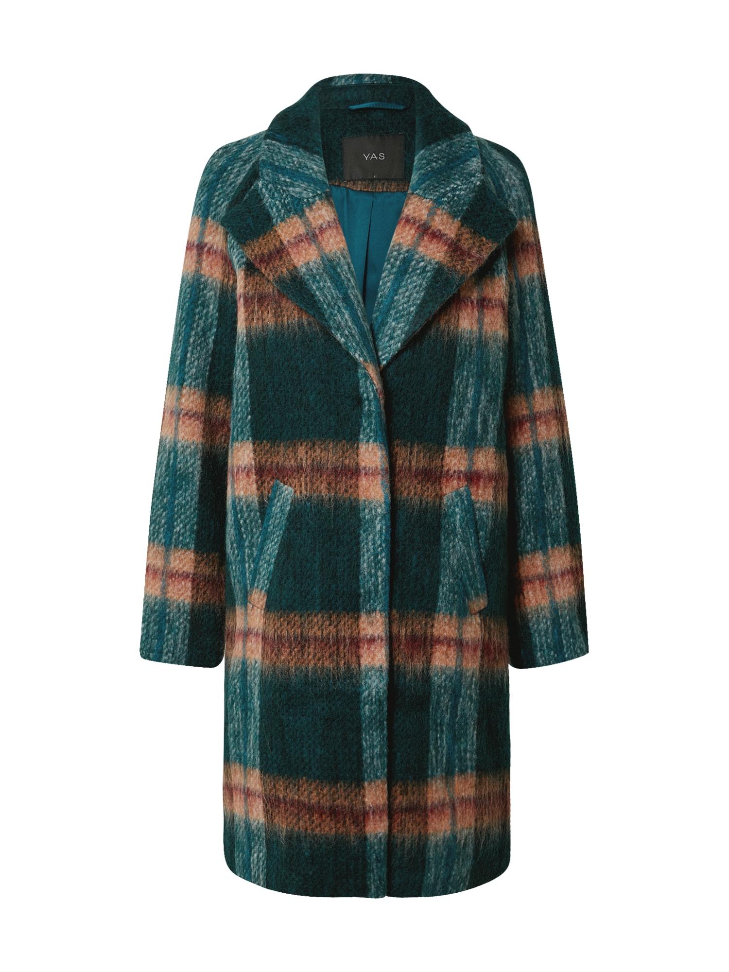 Y.A.S Přechodný kabát  zelená / hnědá / rezavě červená
