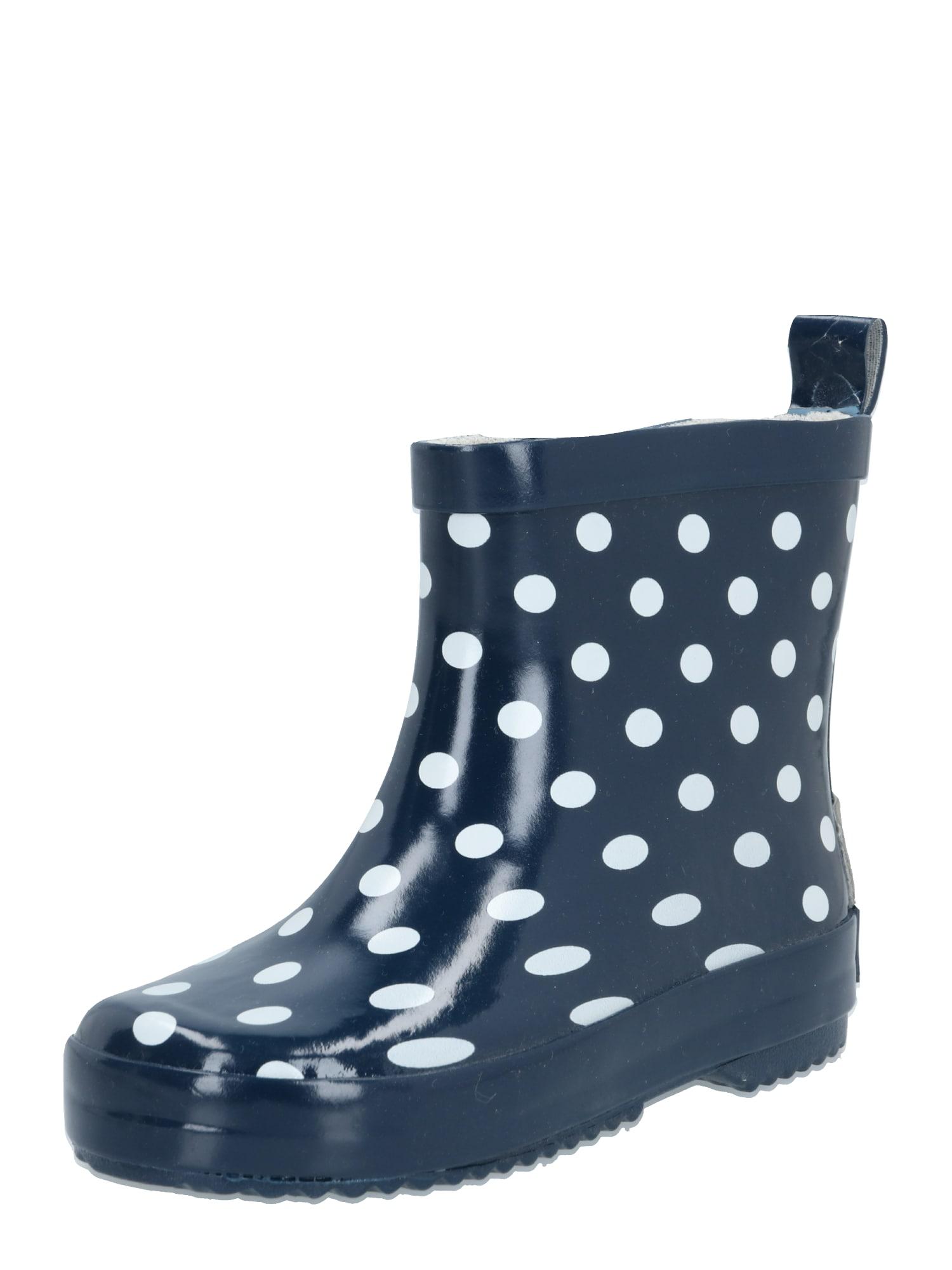 PLAYSHOES Guminiai batai tamsiai mėlyna / balta