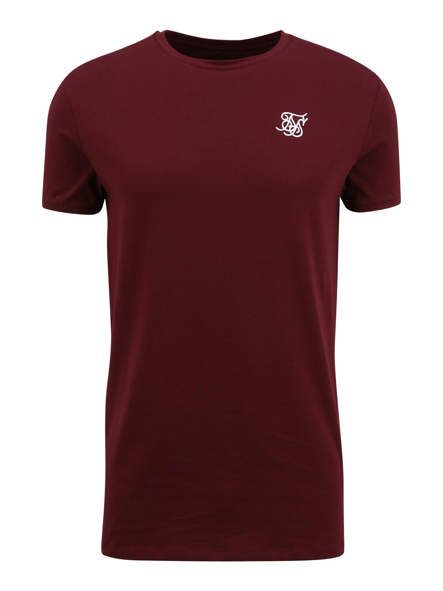 SikSilk Marškinėliai burgundiško vyno spalva