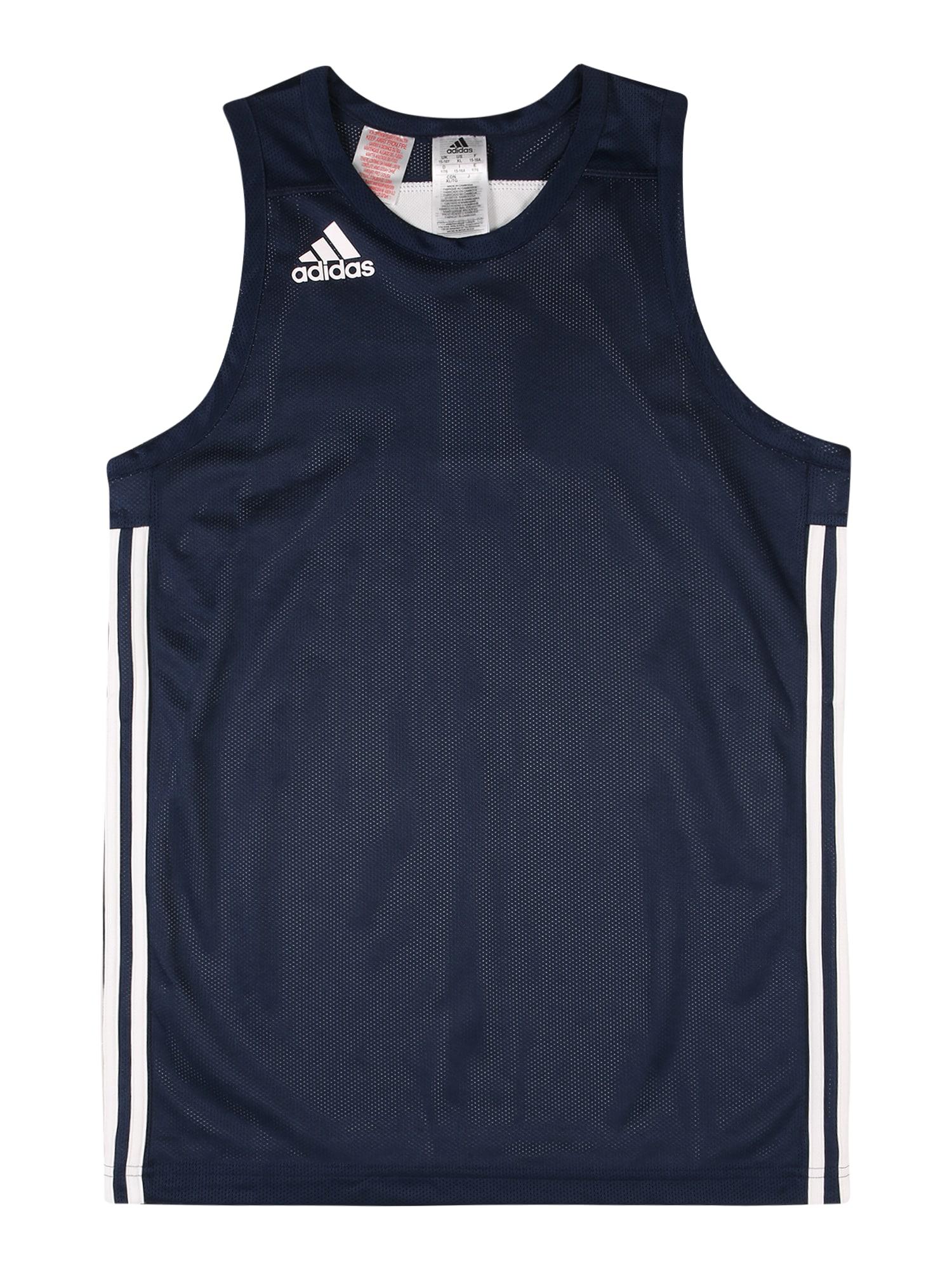 ADIDAS PERFORMANCE Funkční tričko  námořnická modř / bílá