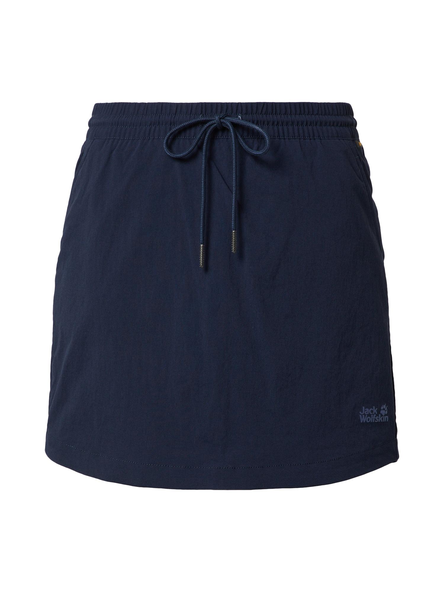 JACK WOLFSKIN Sportinio stiliaus sijonas 'Desert' tamsiai mėlyna