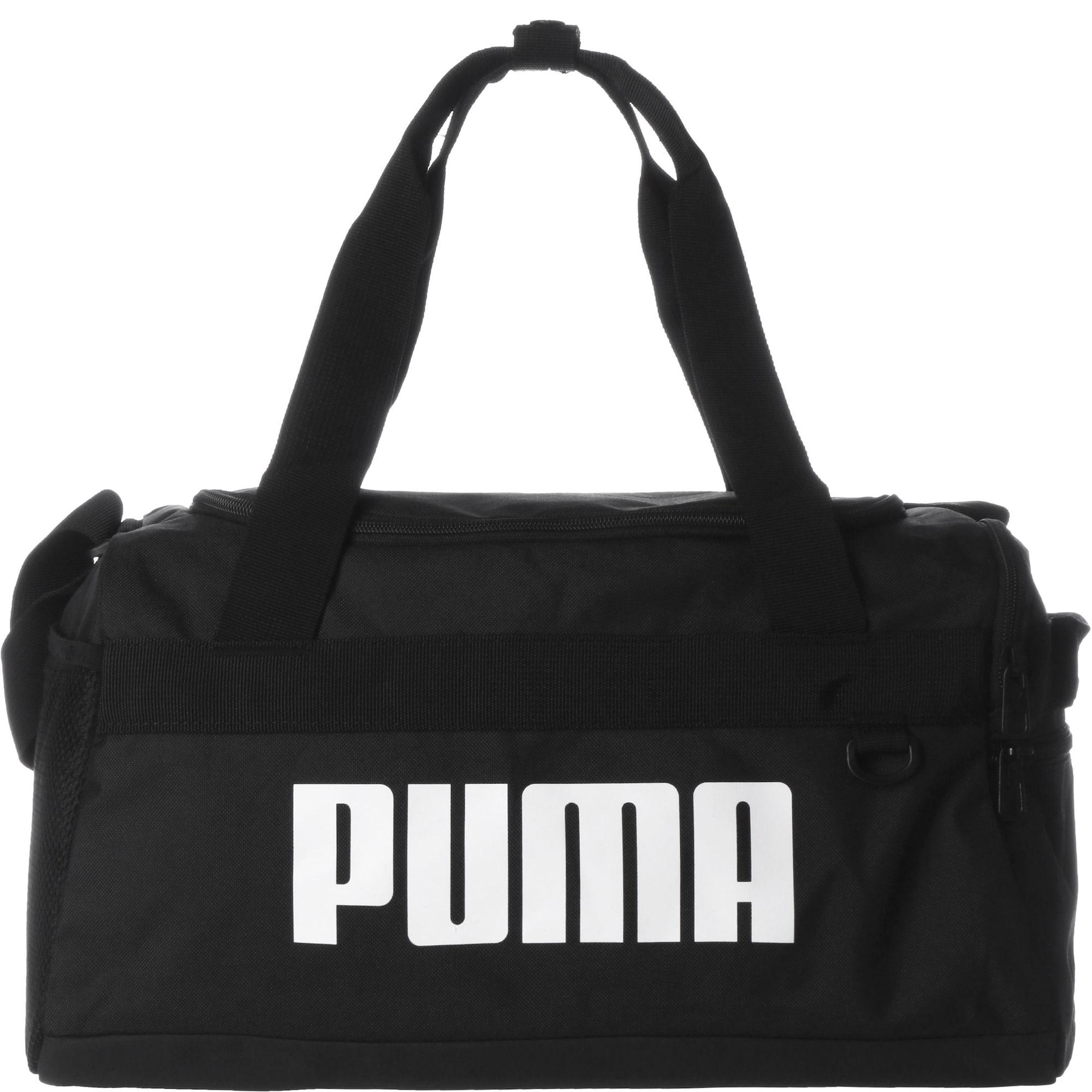 PUMA Sportinis krepšys 'Challenger' juoda / balta