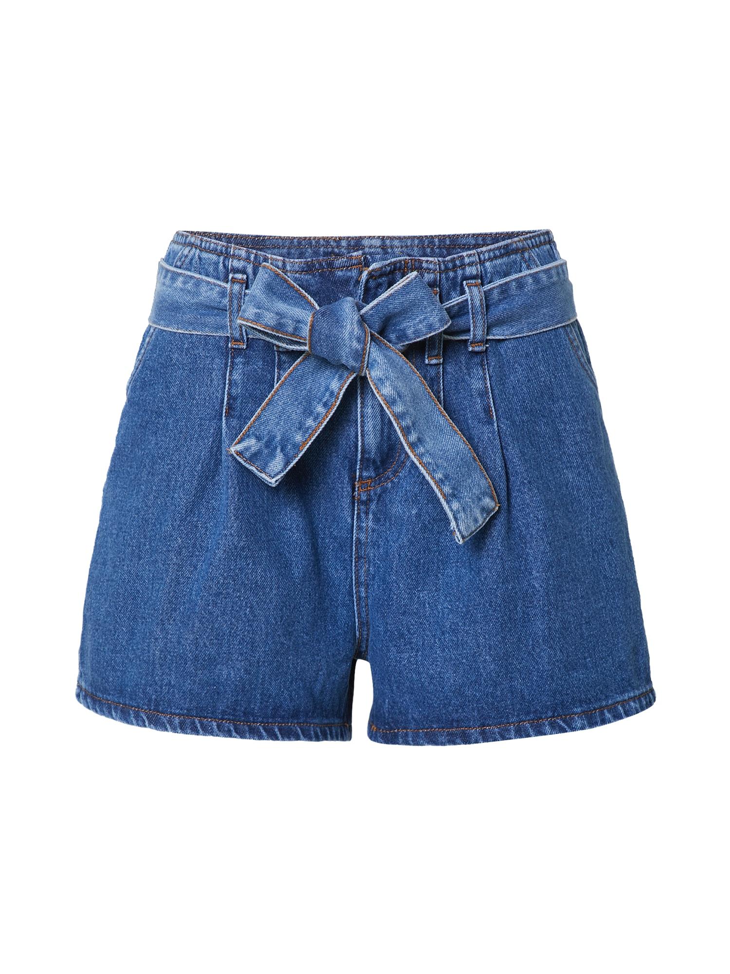 Trendyol Džinsai su kantu tamsiai (džinso) mėlyna
