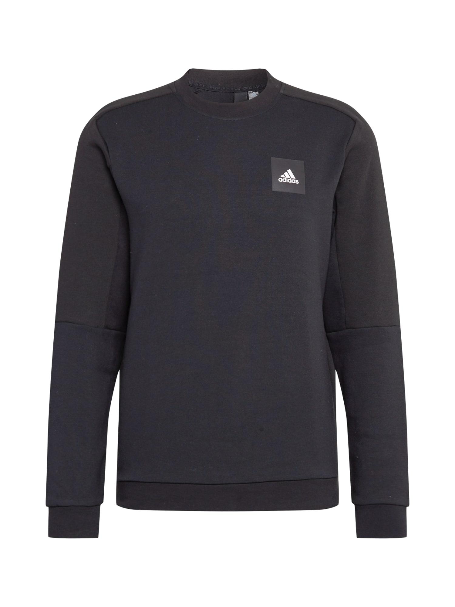 ADIDAS PERFORMANCE Sportinio tipo megztinis juoda / balta