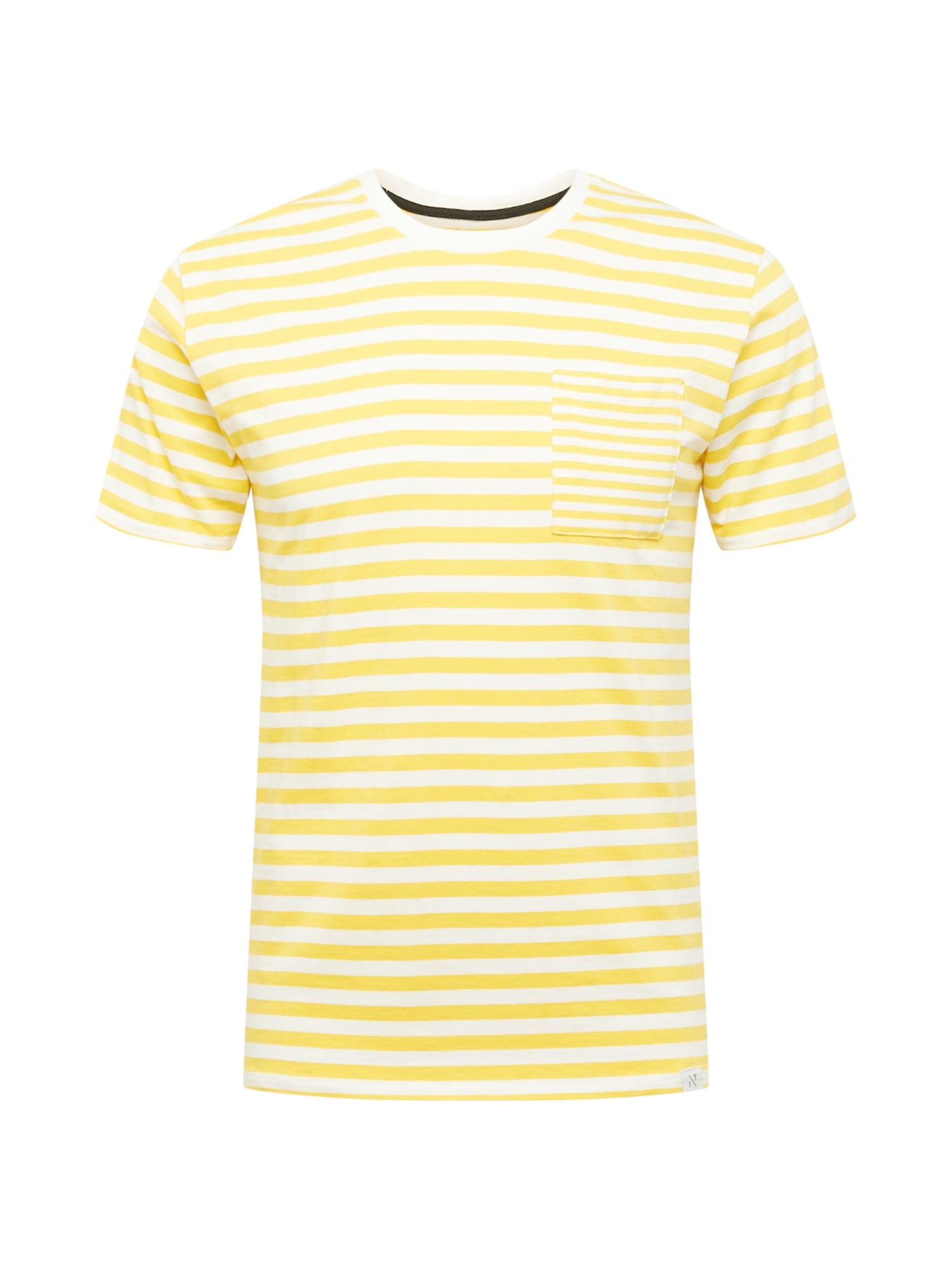NOWADAYS Marškinėliai geltona / balta