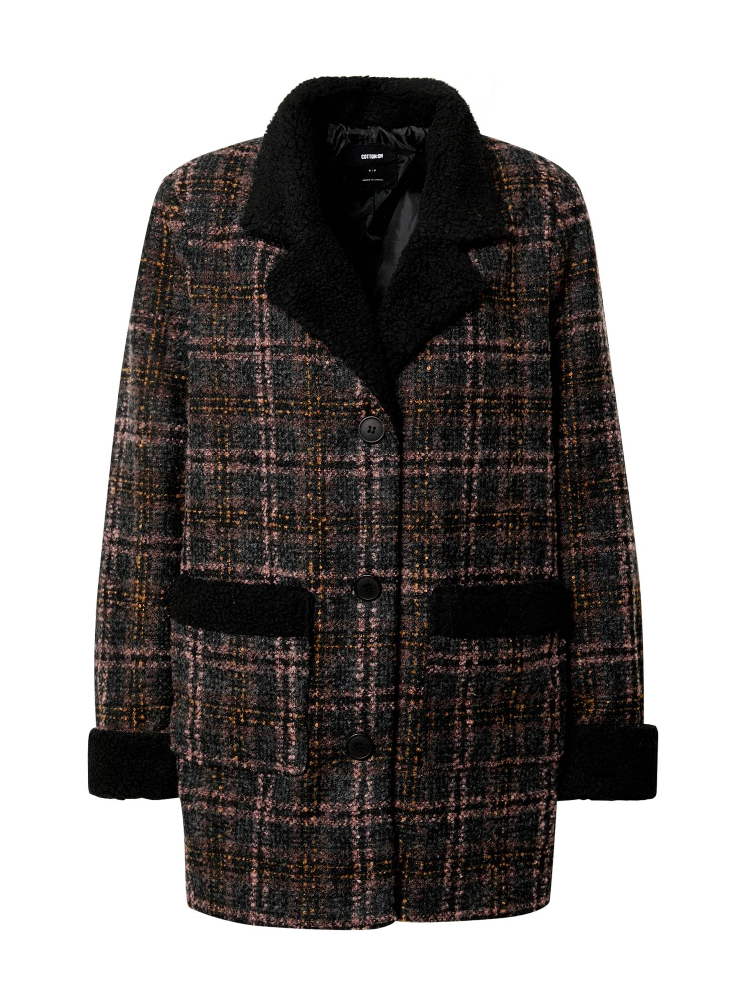 Cotton On Demisezoninis paltas mišrios spalvos / juoda