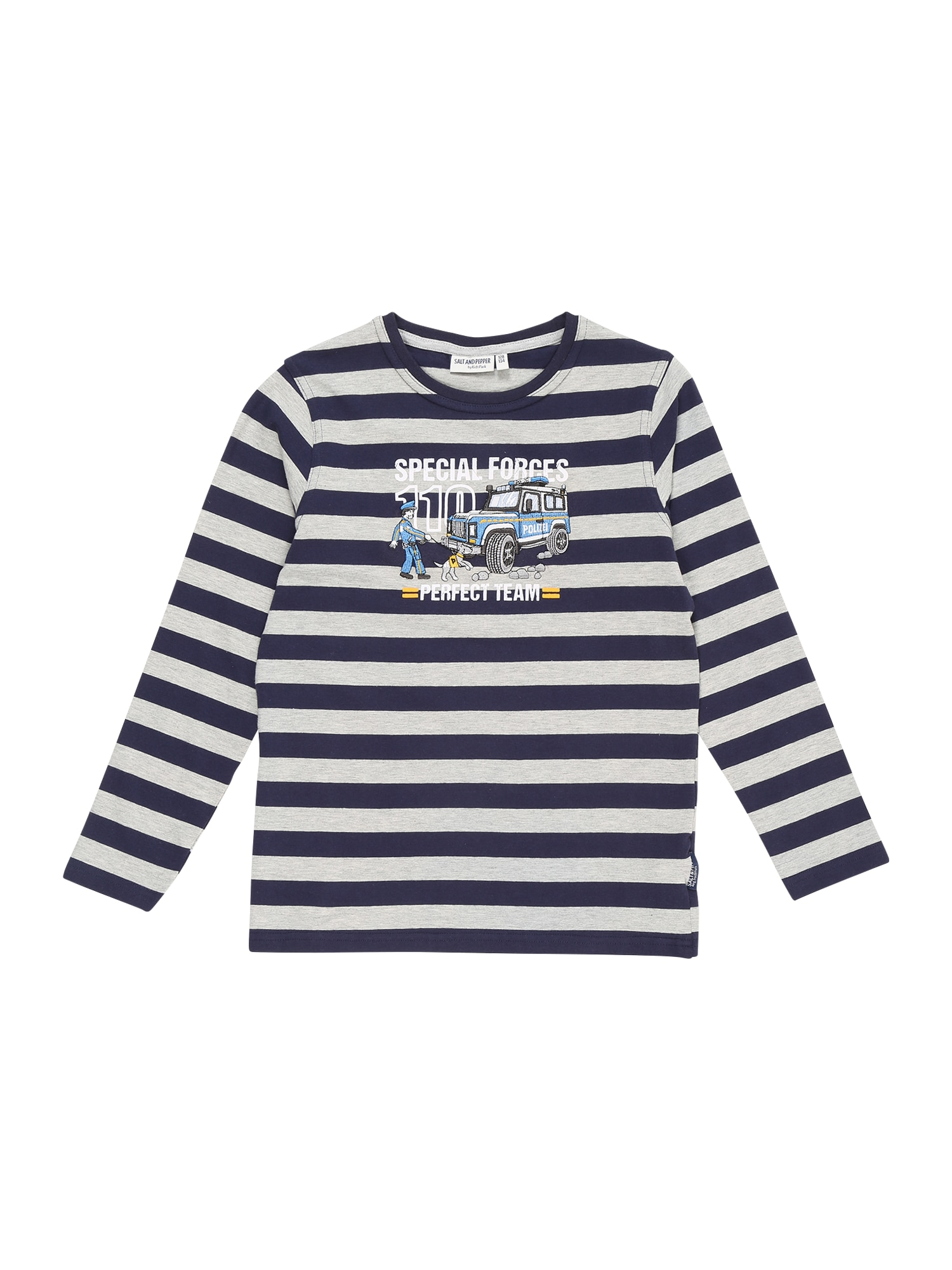 SALT AND PEPPER Marškinėliai tamsiai mėlyna / šviesiai mėlyna