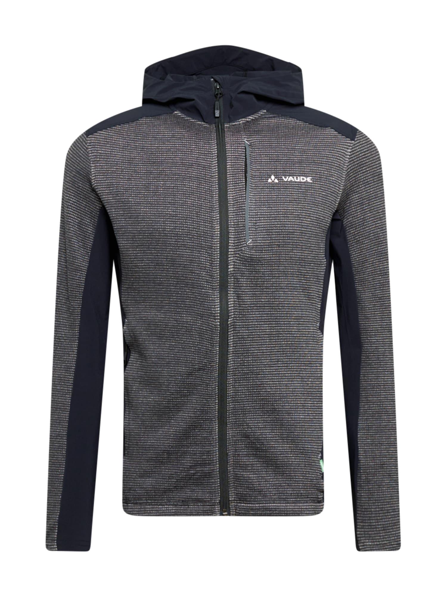 VAUDE Sportinis džemperis margai juoda / nakties mėlyna / balta