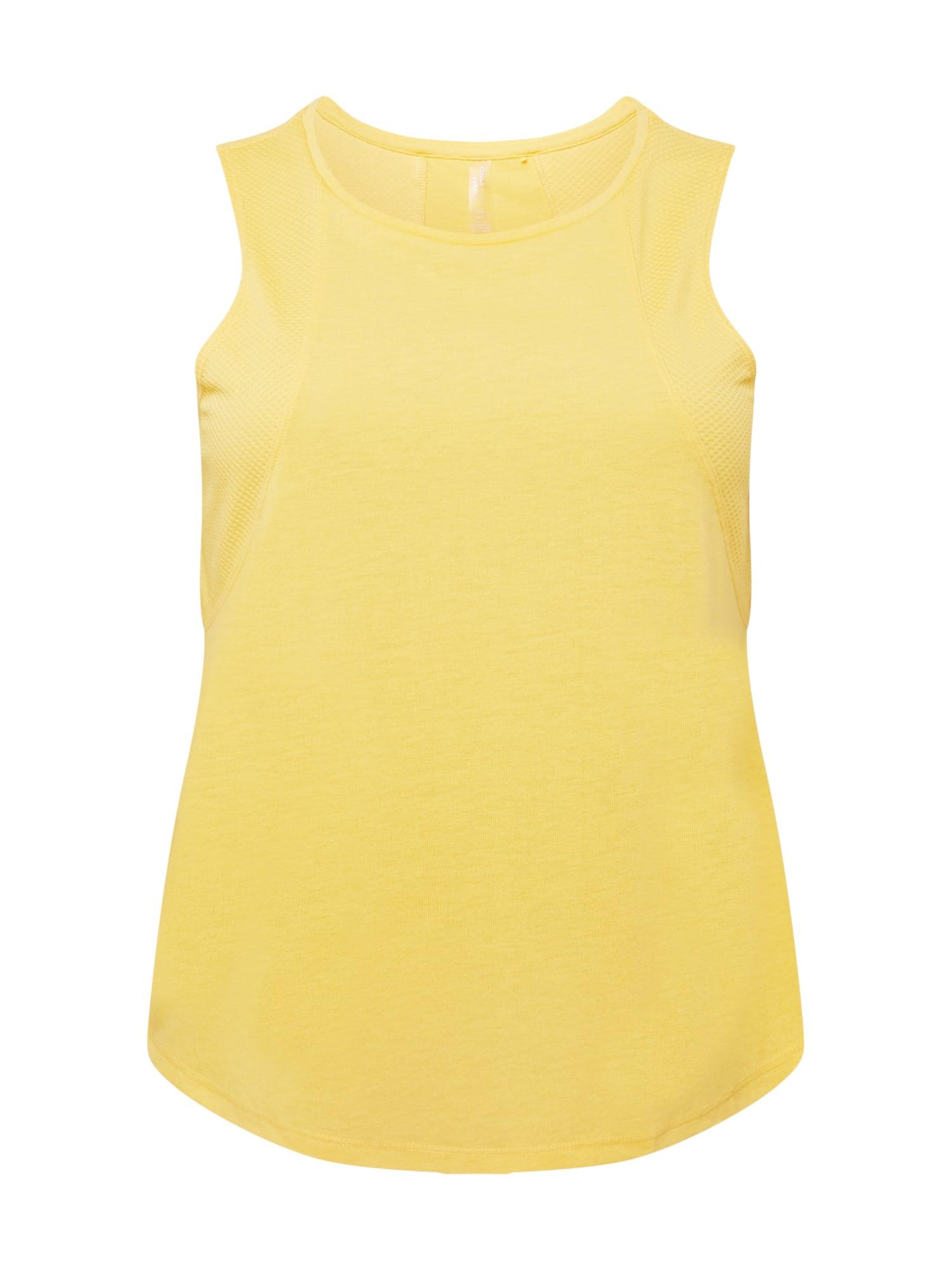Only Play Curvy Sportiniai marškinėliai be rankovių geltona