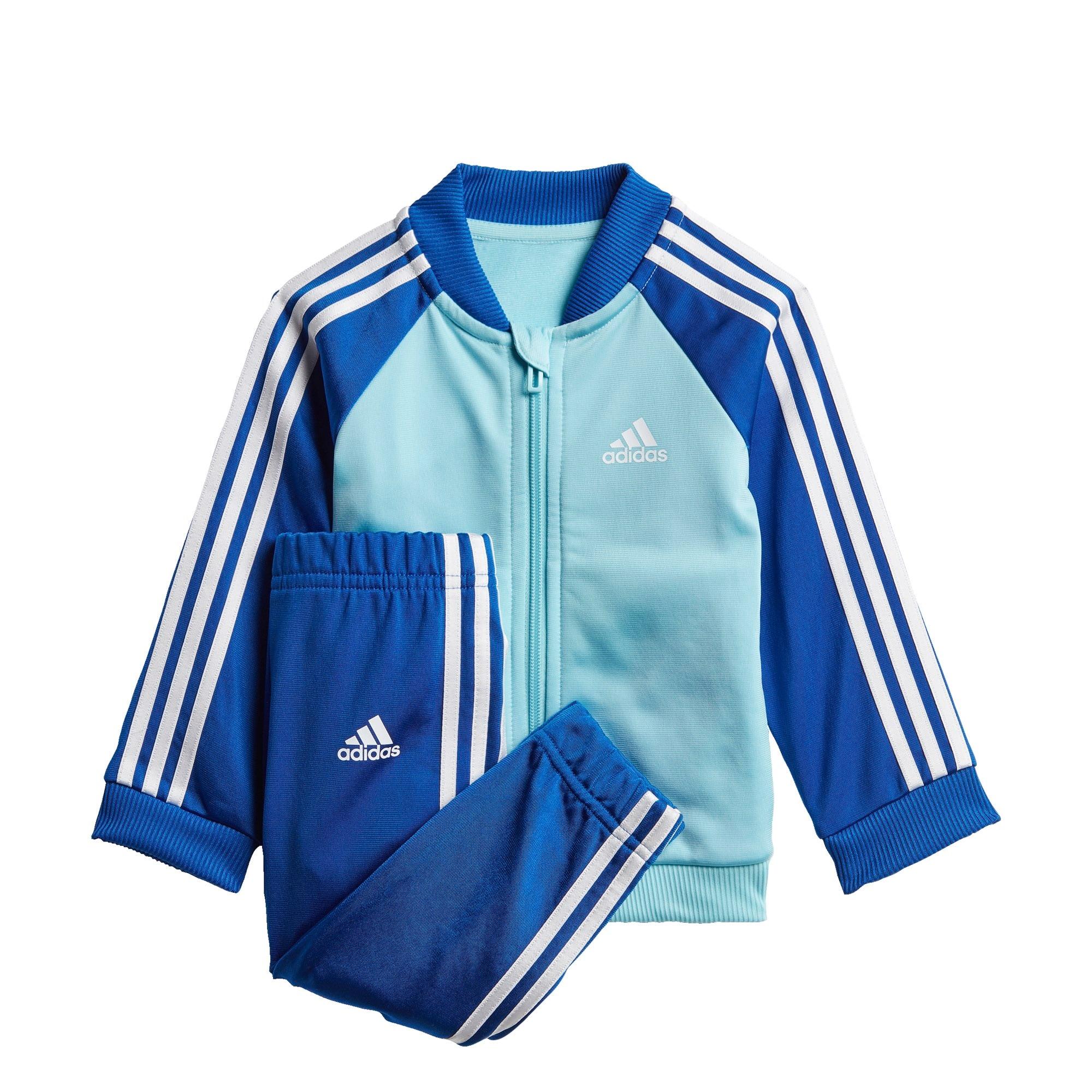 ADIDAS PERFORMANCE Treniruočių kostiumas tamsiai mėlyna / balta / turkio spalva