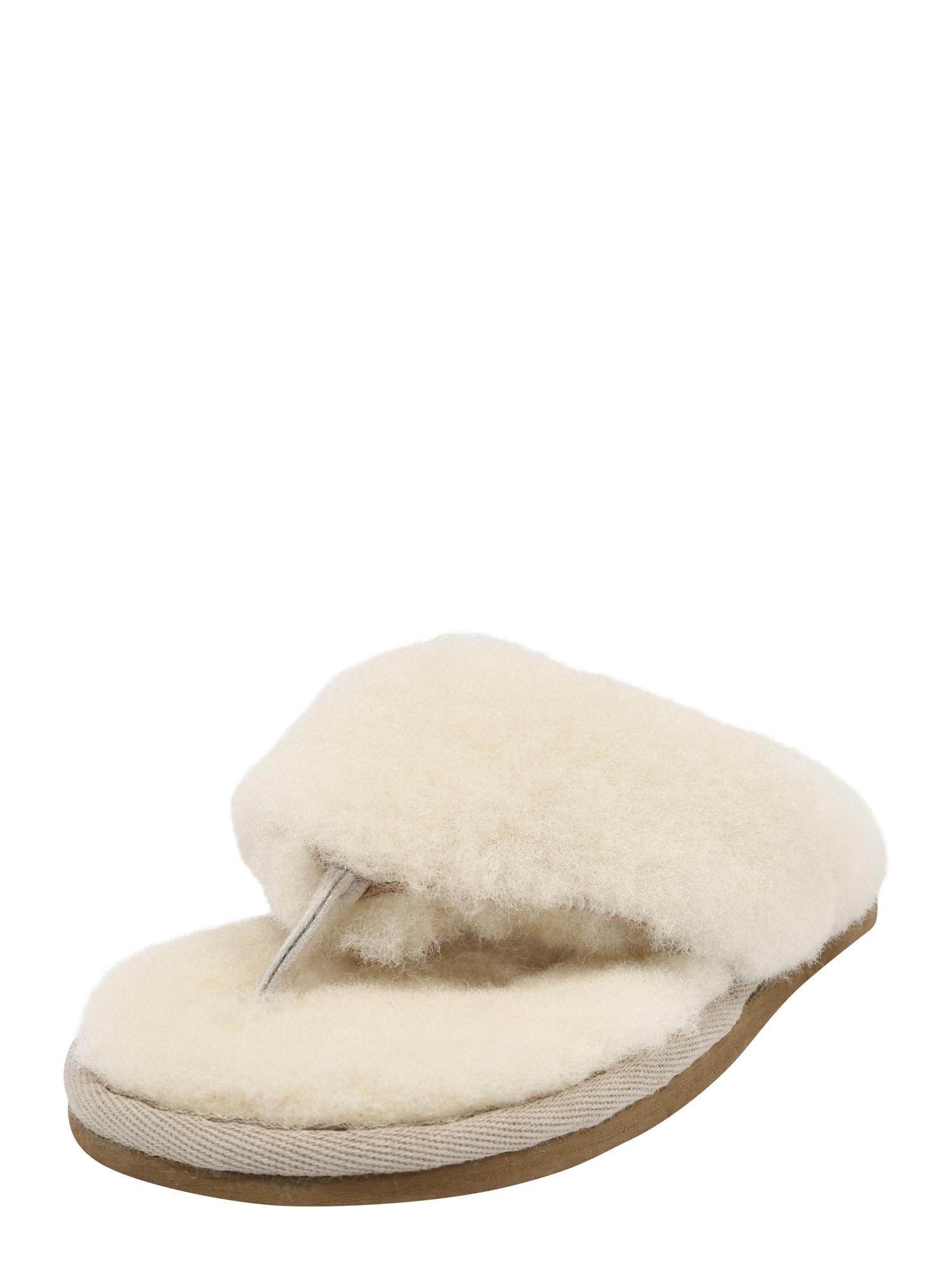 SHEPHERD OF SWEDEN Naminės šlepetės 'Pernilla' natūrali balta