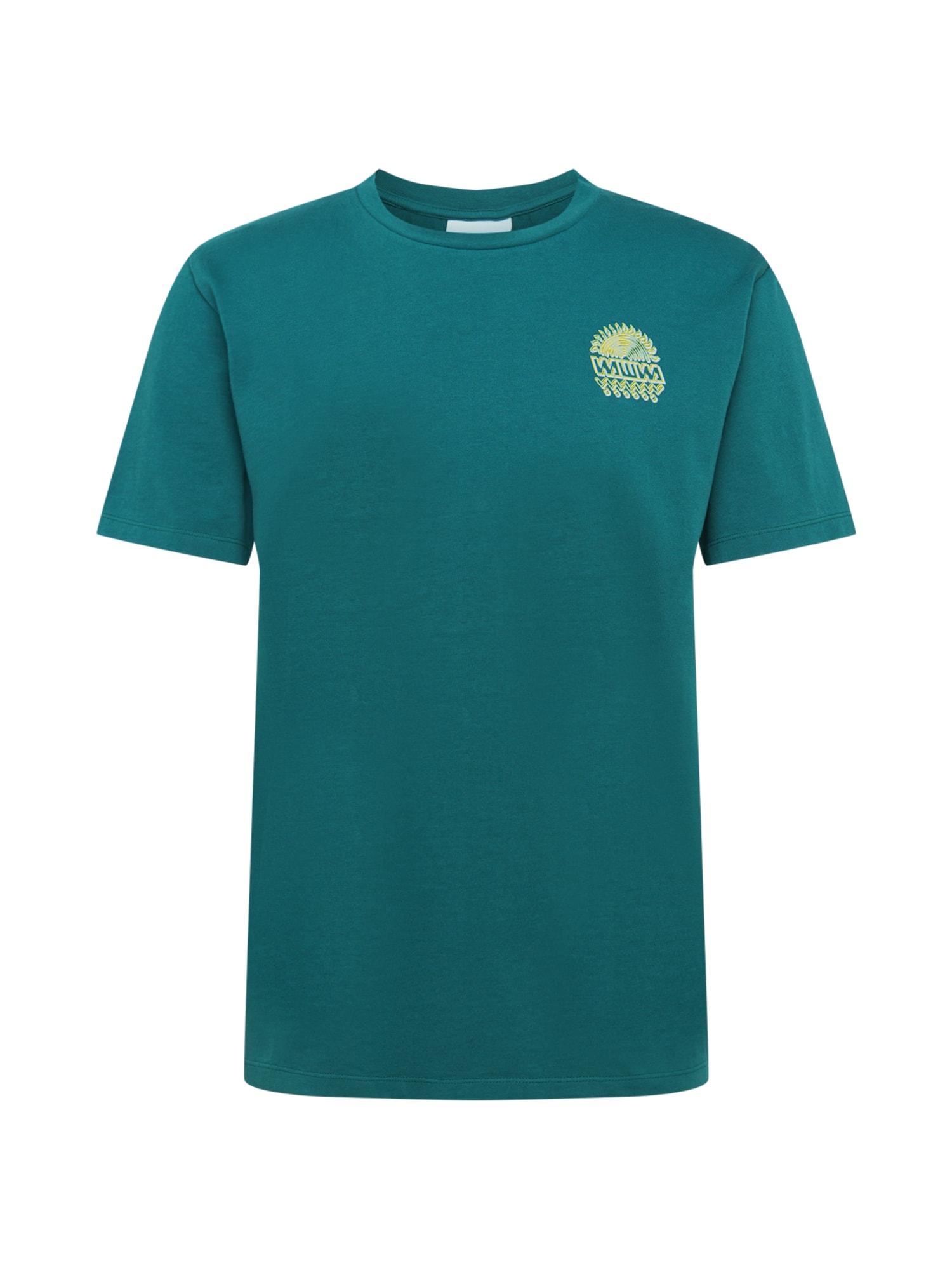 WAWWA Marškinėliai žalia / alyvinė spalva / geltona