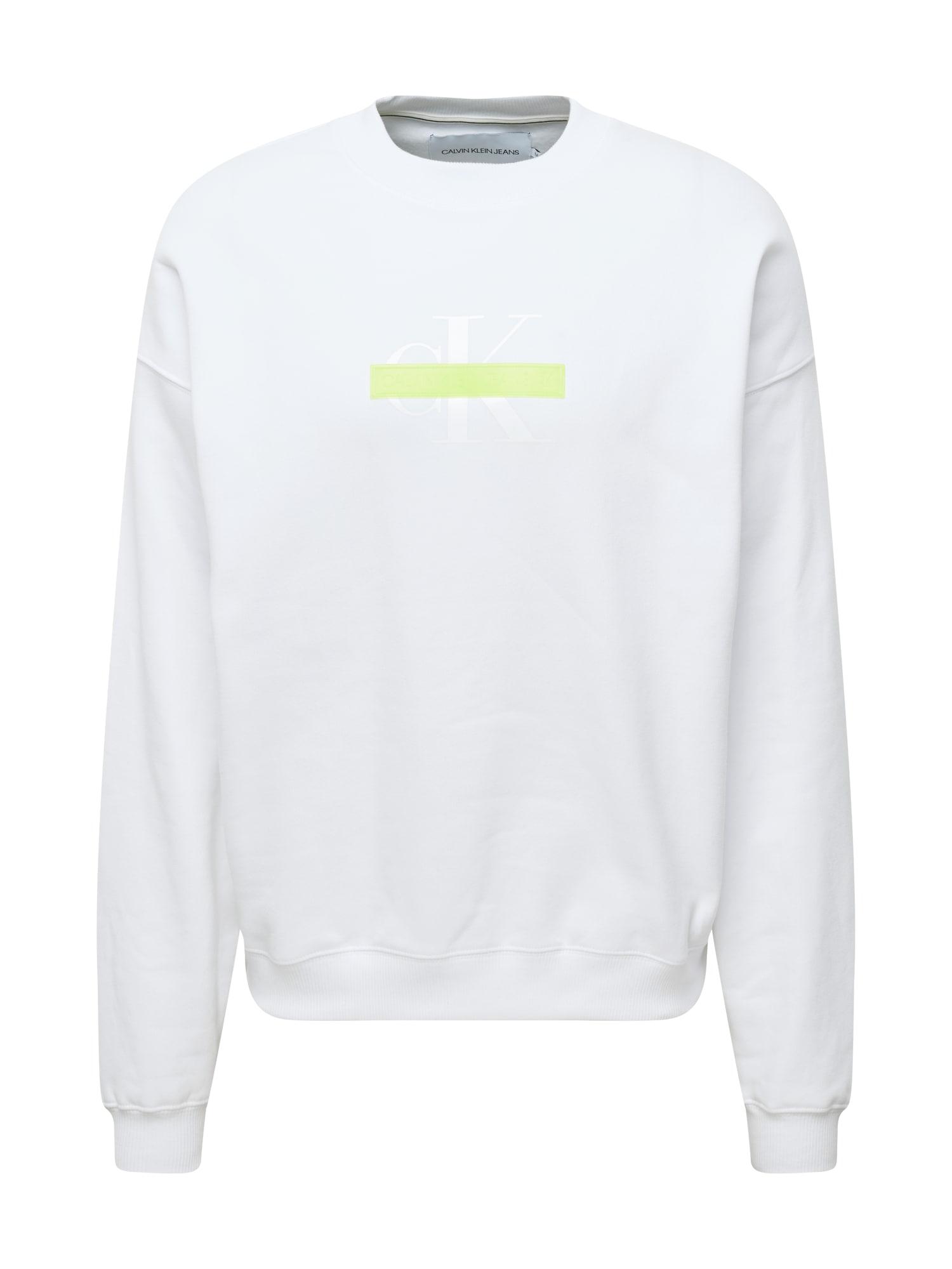 Calvin Klein Jeans Megztinis be užsegimo balta / sidabrinė