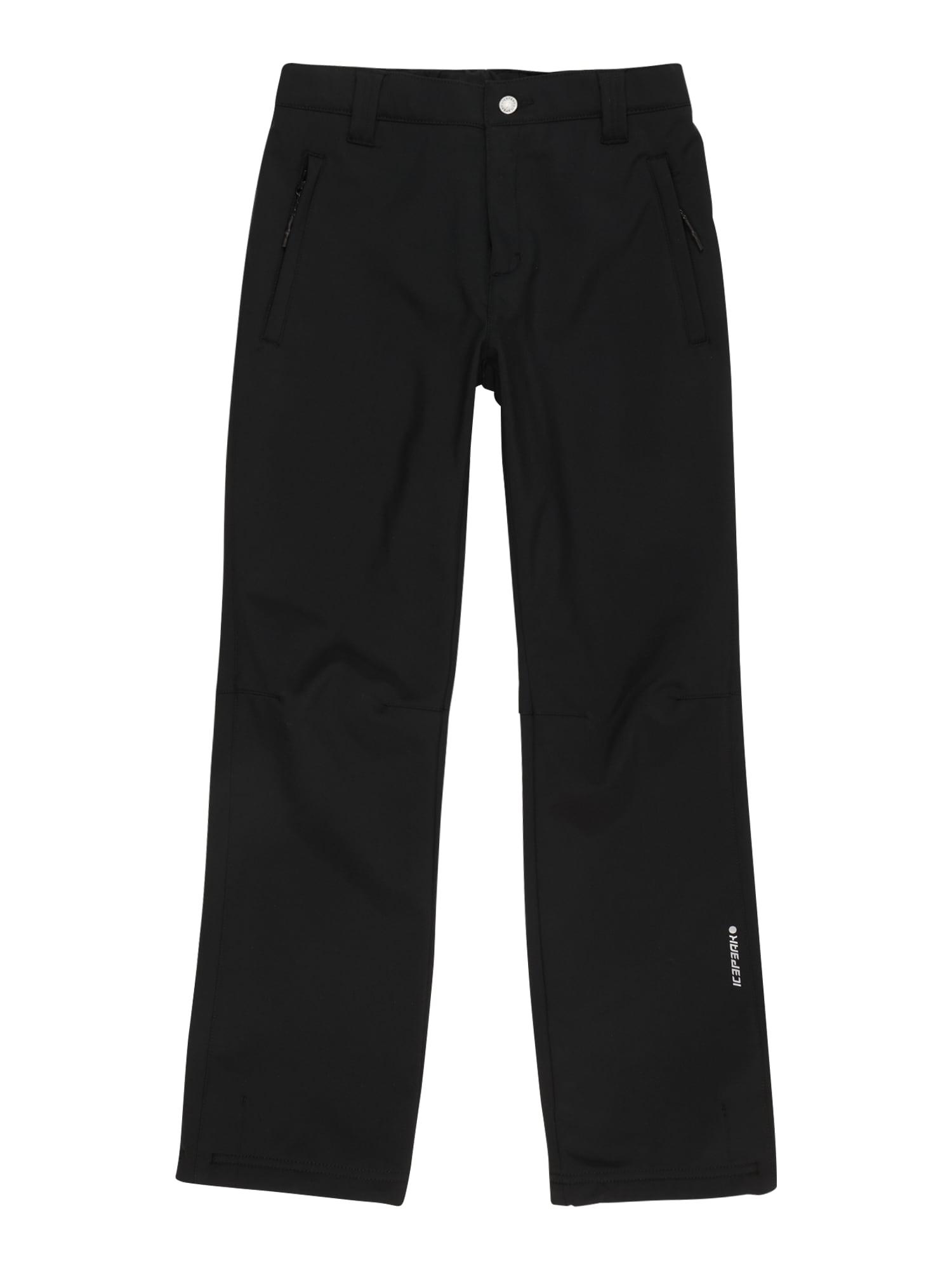 ICEPEAK Laisvalaikio kelnės juoda / balta
