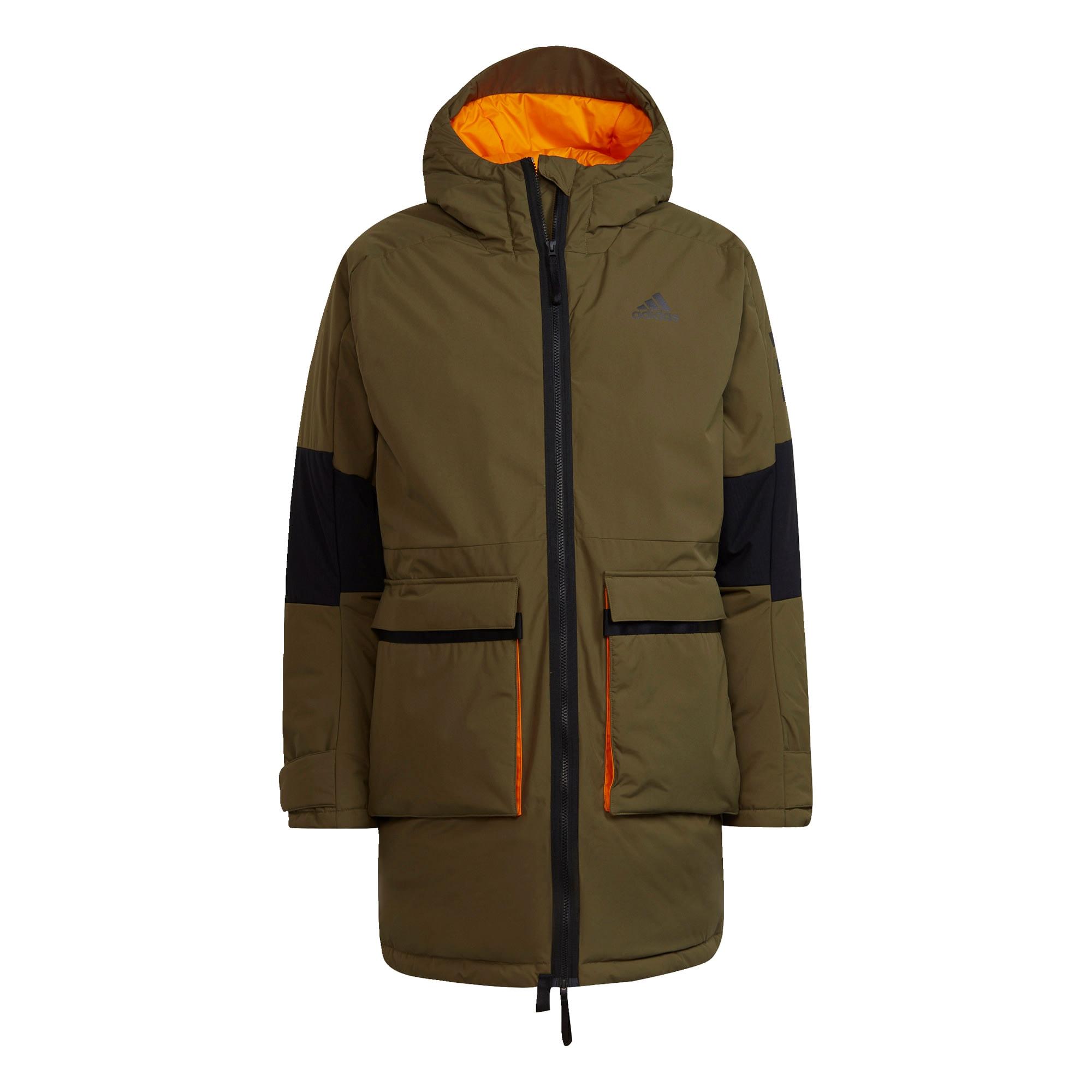 ADIDAS PERFORMANCE Outdoorová bunda 'Utilitas'  khaki / černá / oranžová