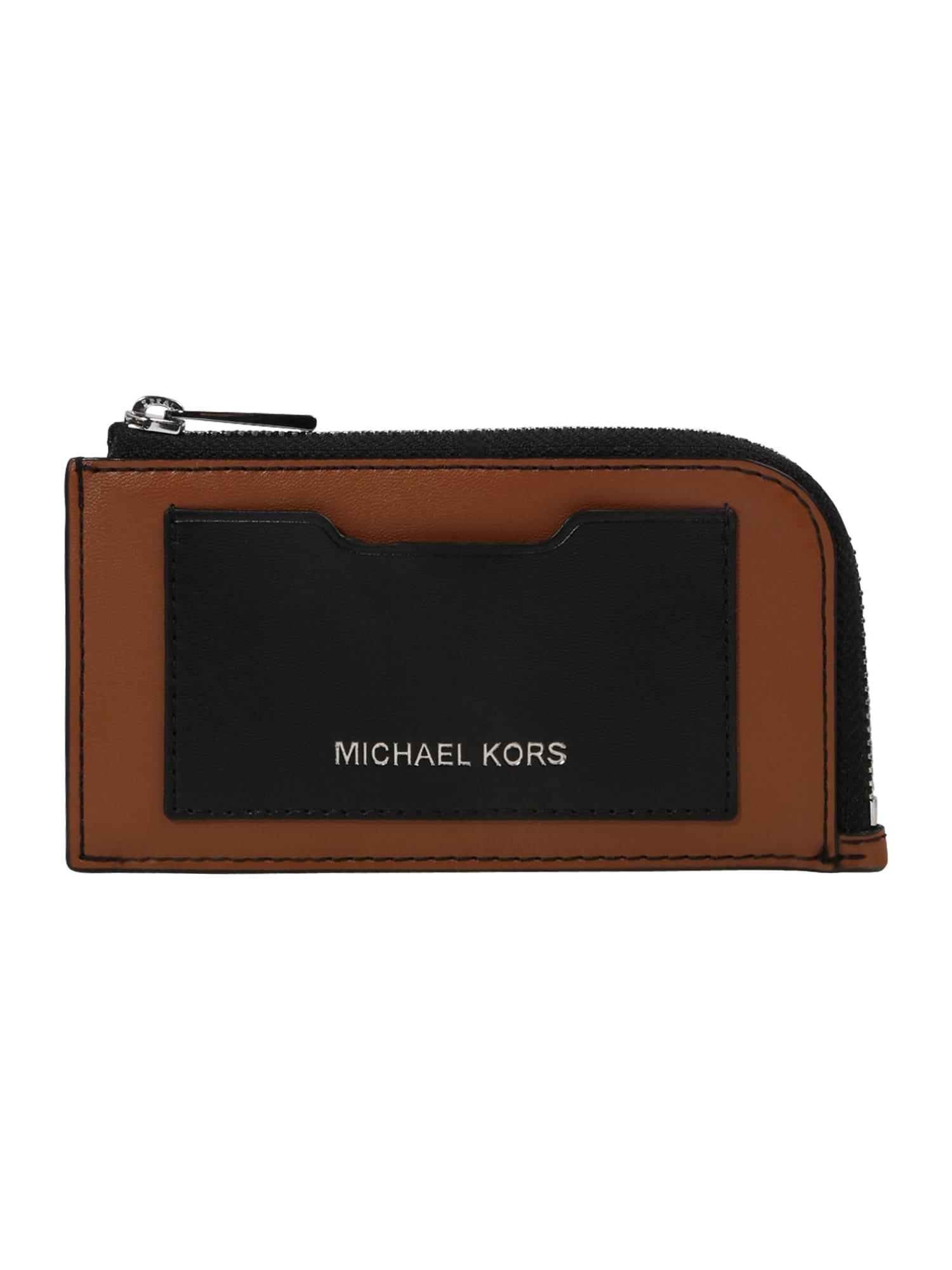 Michael Kors Piniginė ruda / juoda / sidabrinė