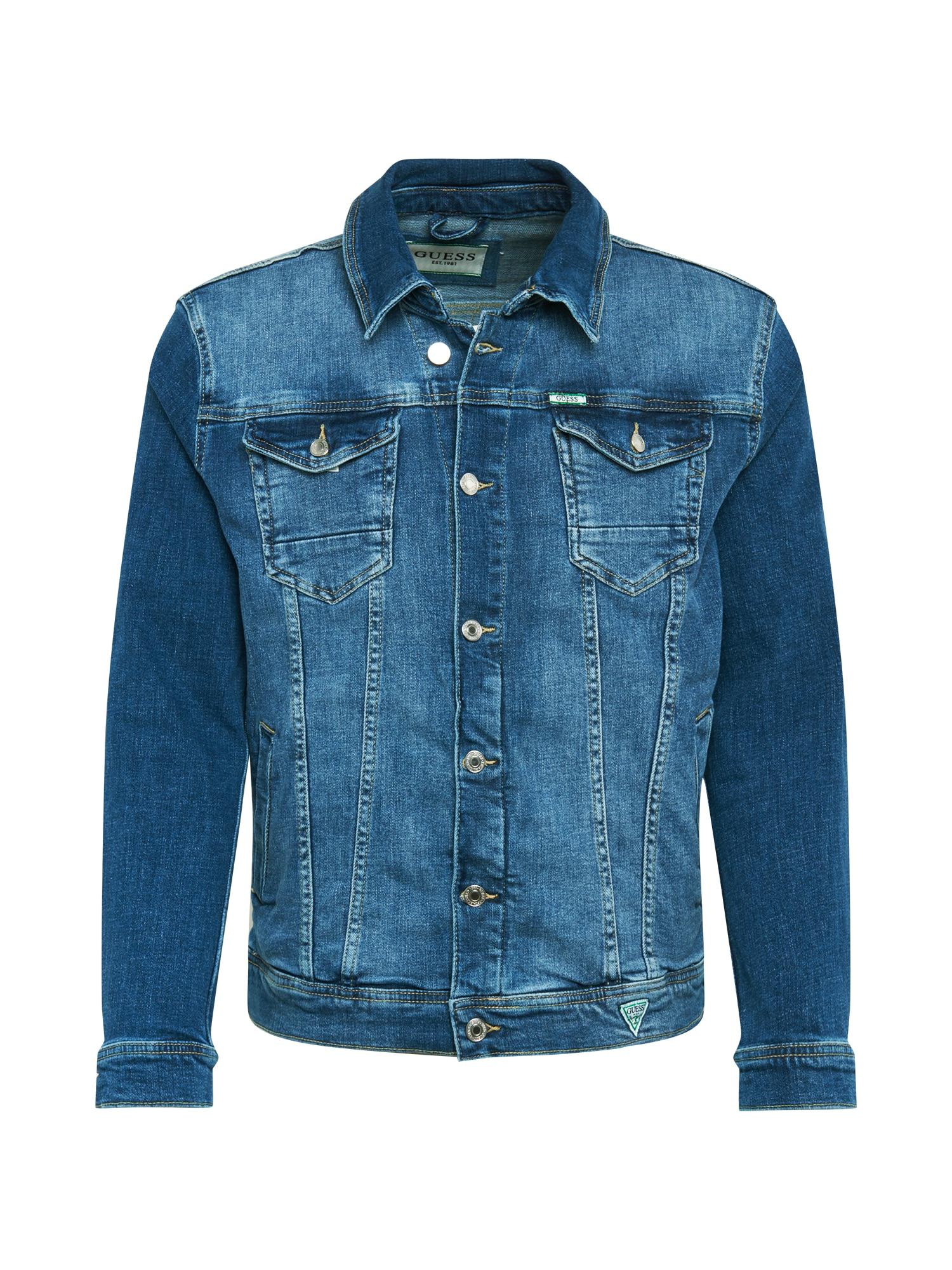 GUESS Demisezoninė striukė 'William' tamsiai (džinso) mėlyna