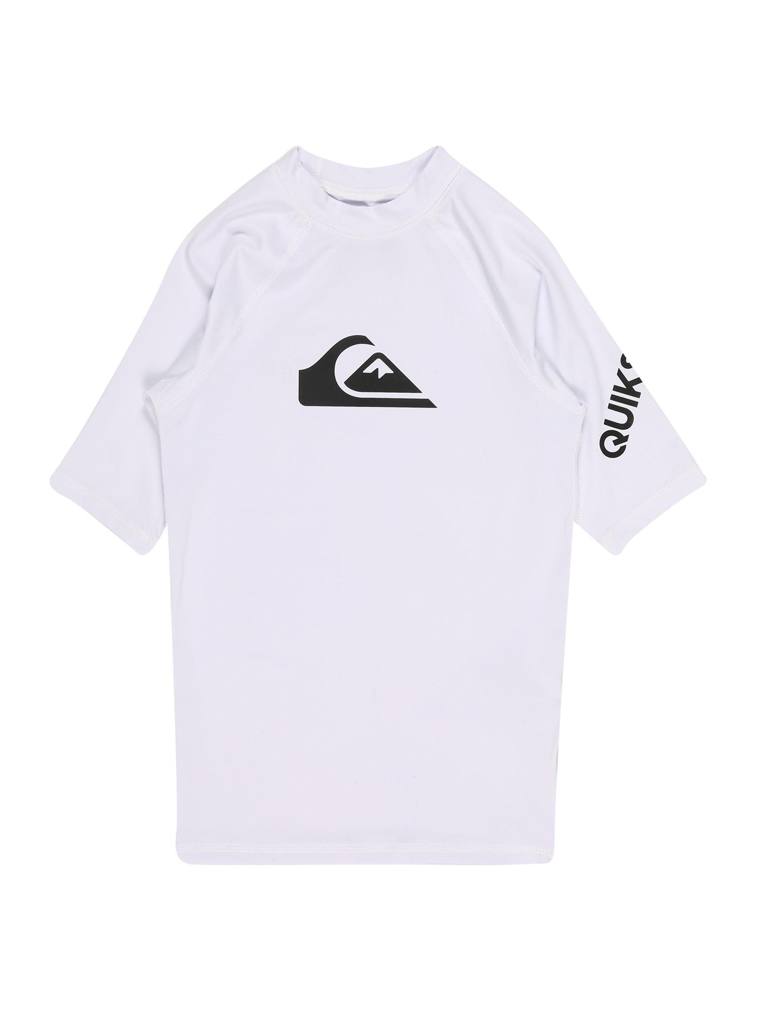 QUIKSILVER Sportiniai marškinėliai balta / juoda