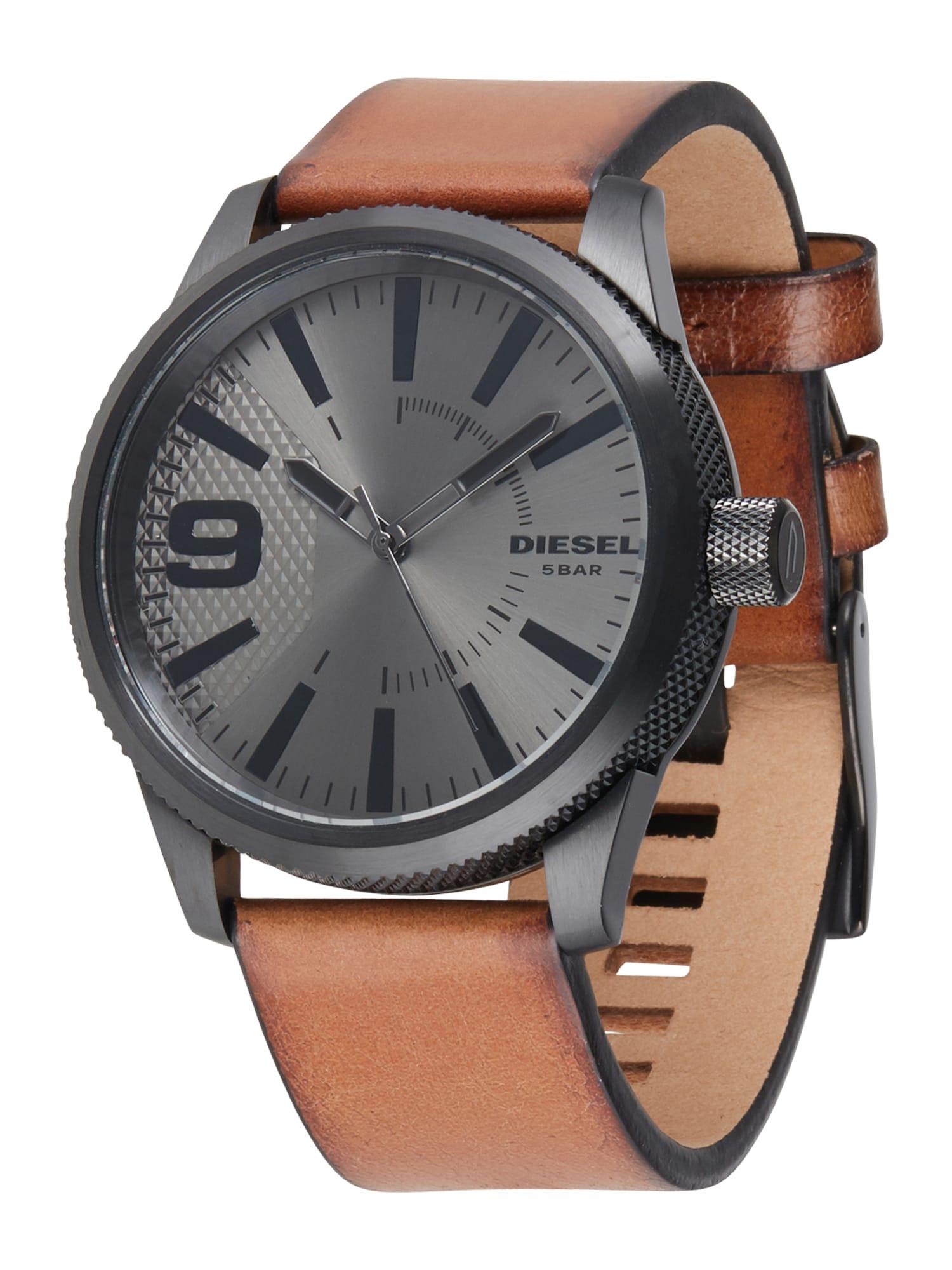 DIESEL Analoginis (įprasto dizaino) laikrodis šviesiai ruda / juoda