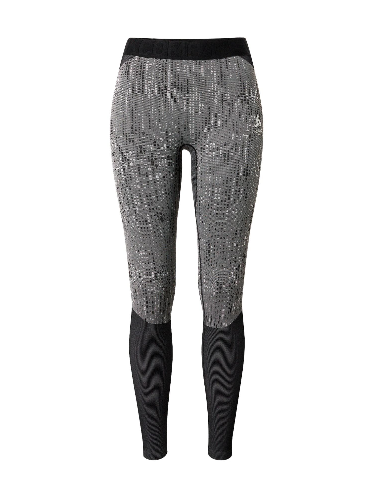 ODLO Sportinės kelnės juoda / šviesiai pilka / margai pilka