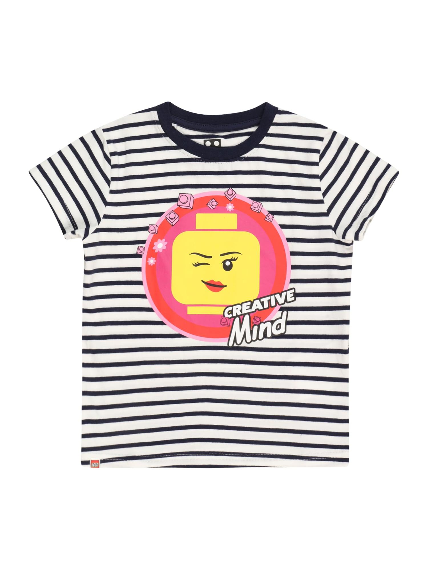 LEGO WEAR Marškinėliai balkšva / tamsiai mėlyna jūros spalva / rožinė / geltona / melionų spalva