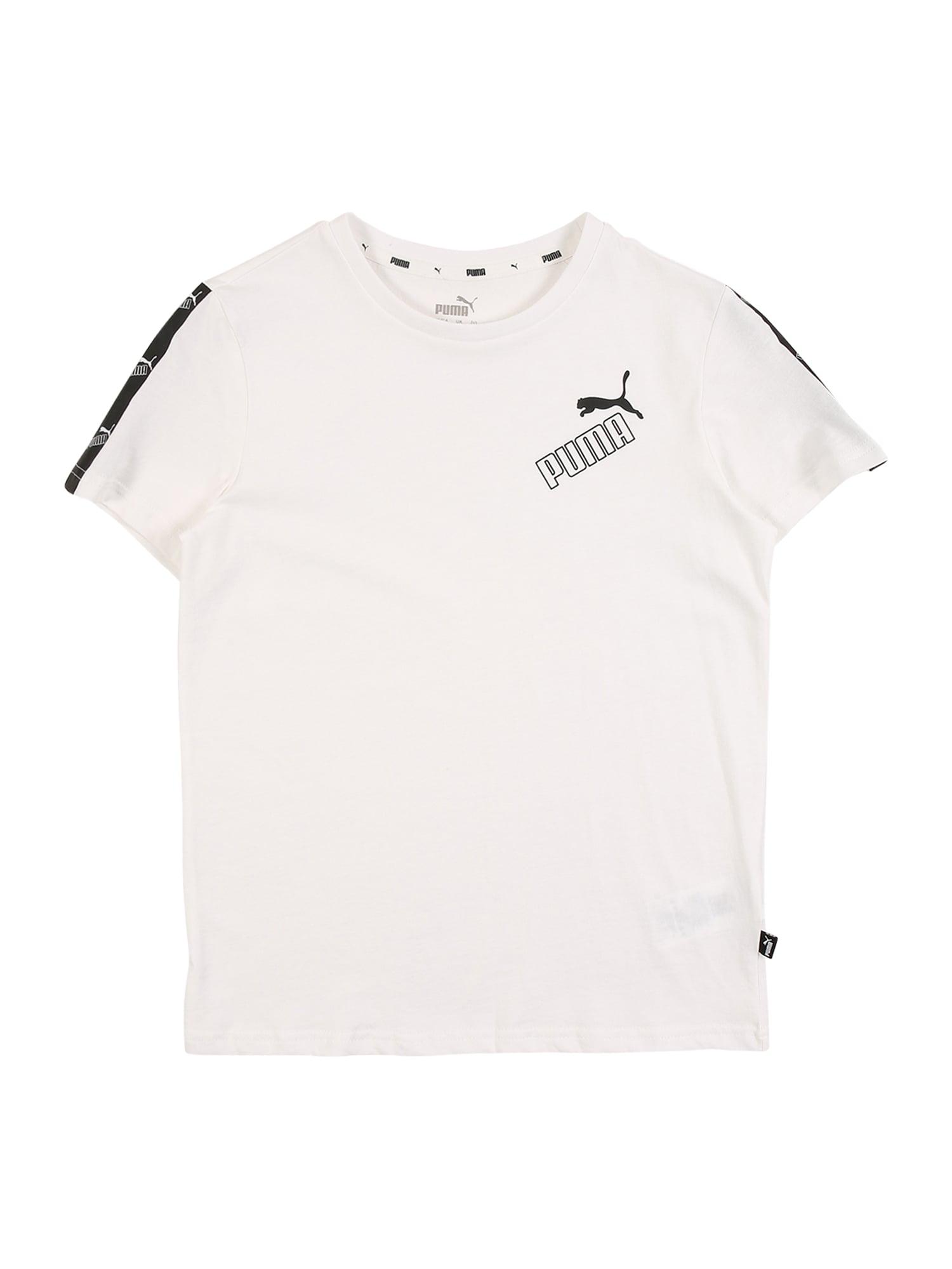 PUMA Funkční tričko 'Amplified'  bílá / černá